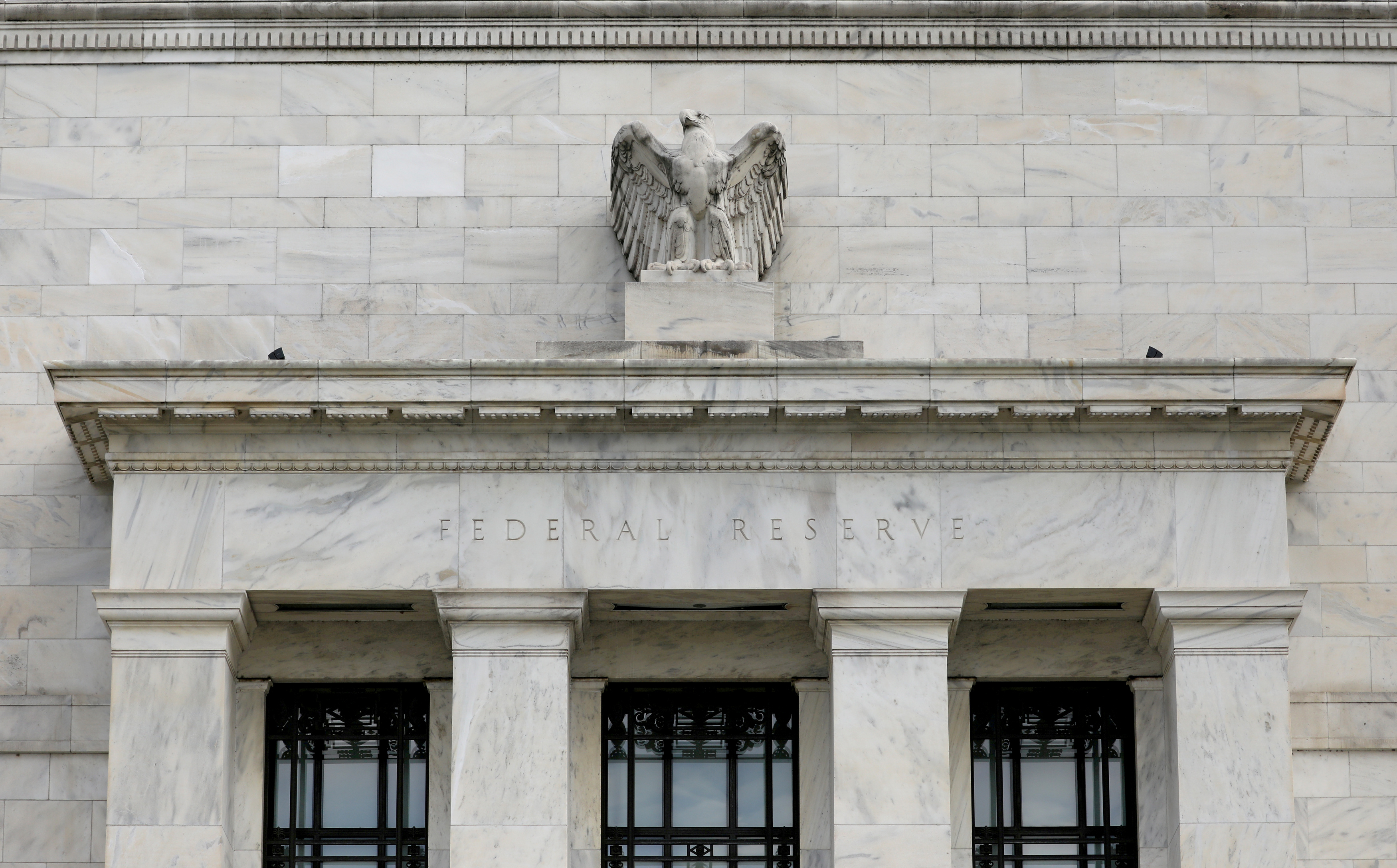 The Federal Reserve building is pictured in Washington, DC, U.S., August 22, 2018. REUTERS/Chris Wattie/File Photo
