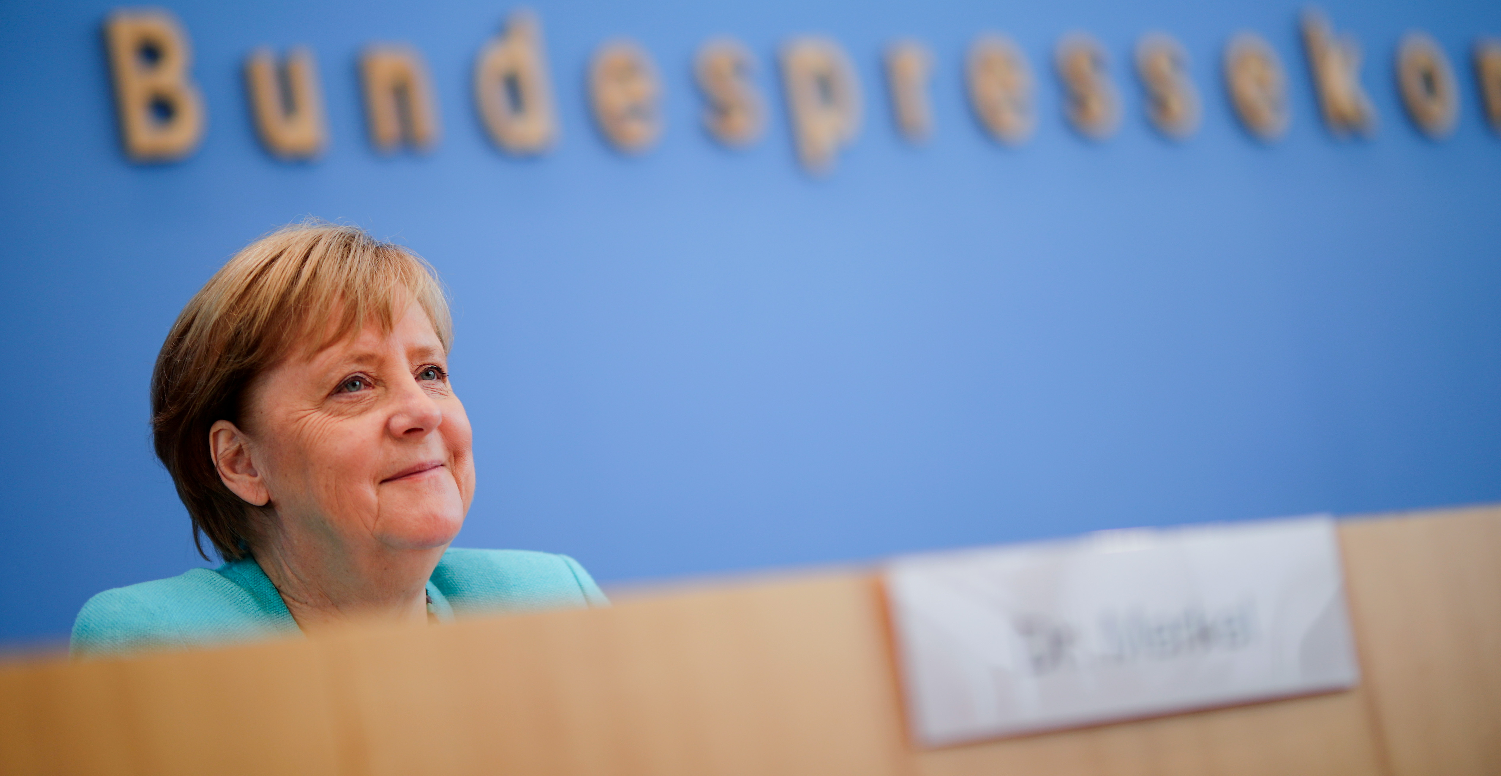 German Chancellor Angela Merkel holds her annual summer news conference in Berlin, Germany, July 22, 2021. REUTERS/Hannibal Hanschke/Pool