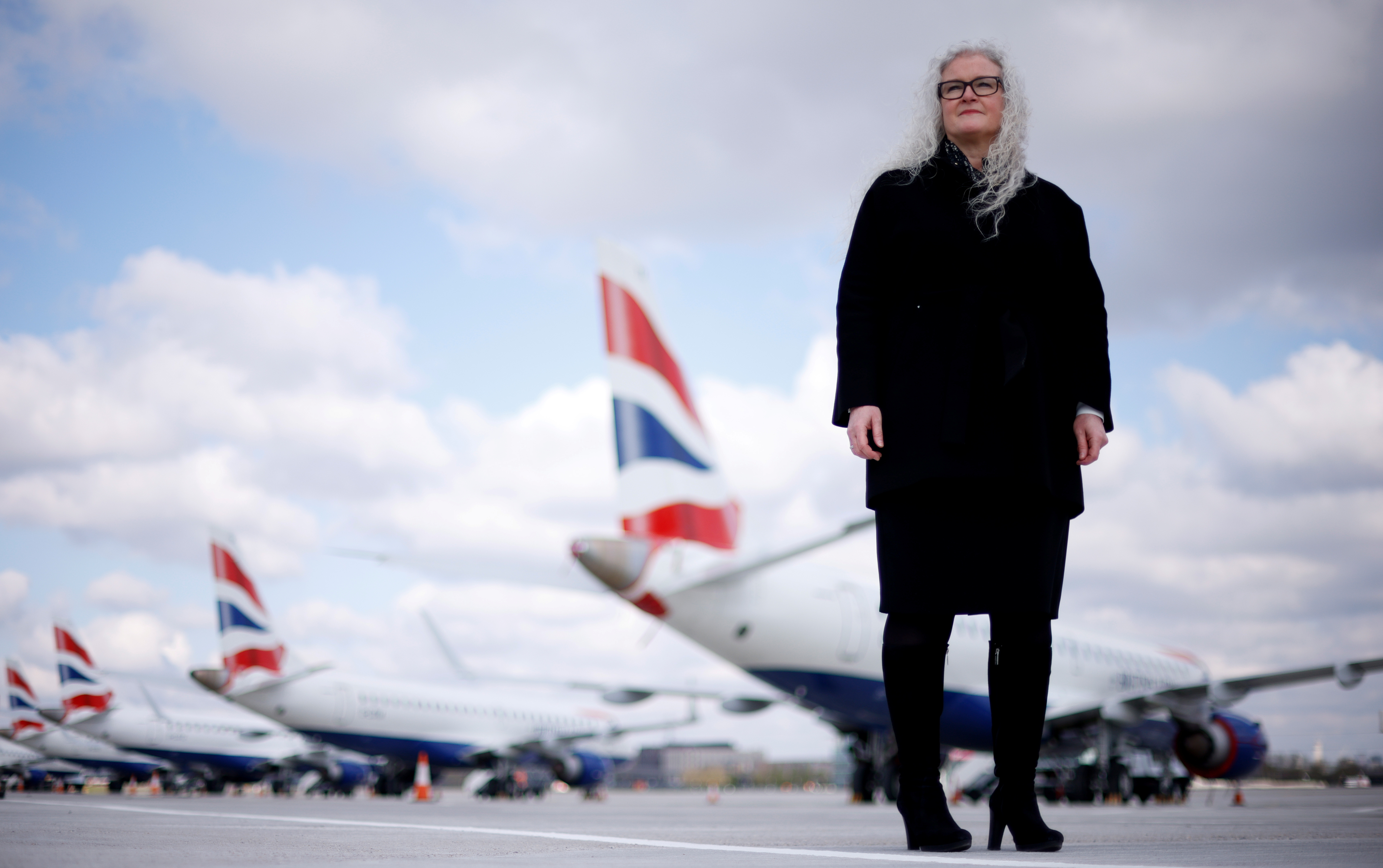 Alison FitzGerald, chief operating officer of London City Airport poses for a photograph at LCY, Britain, April 29, 2021.  REUTERS/John Sibley