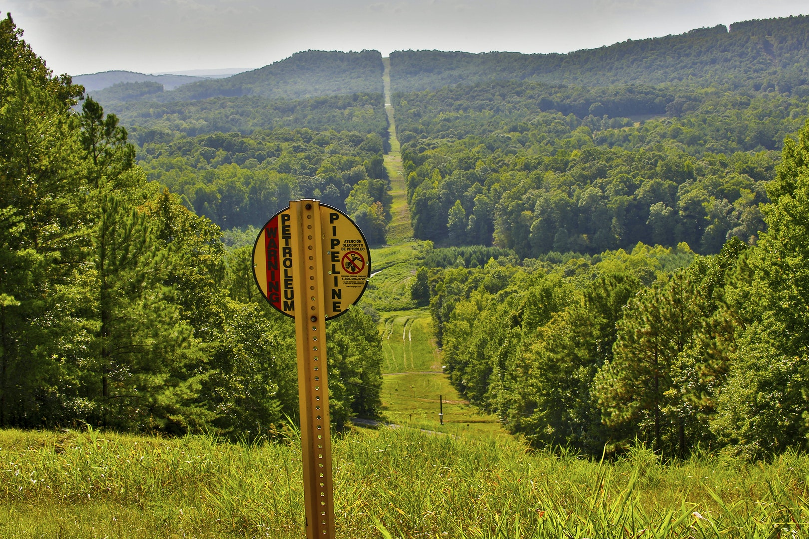 A Colonial Pipeline right of way in an image courtesy of the company.   Colonial Pipeline/via REUTERS