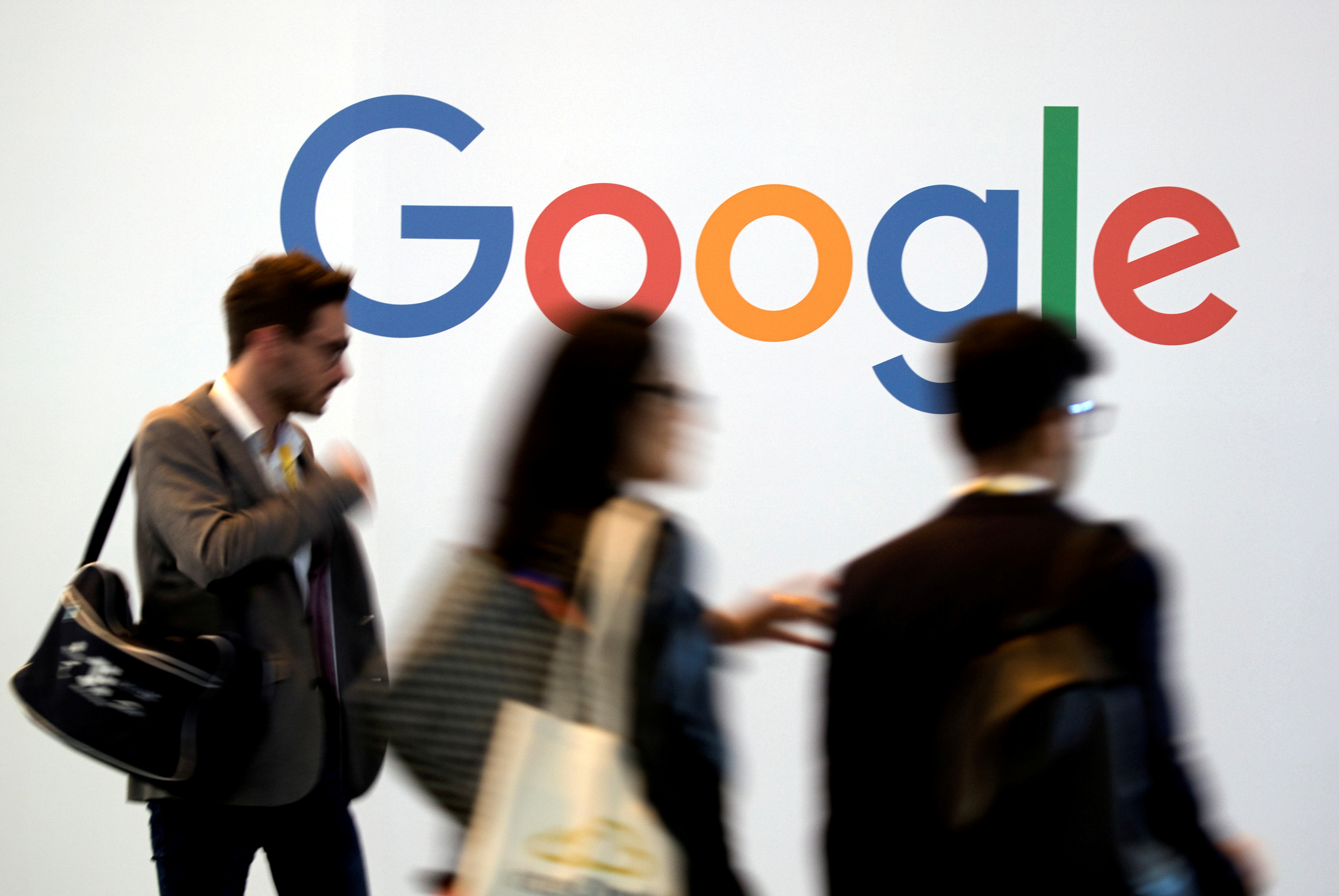 The logo of Google is pictured during the Viva Tech start-up and technology summit in Paris, France, May 25, 2018. REUTERS/Charles Platiau