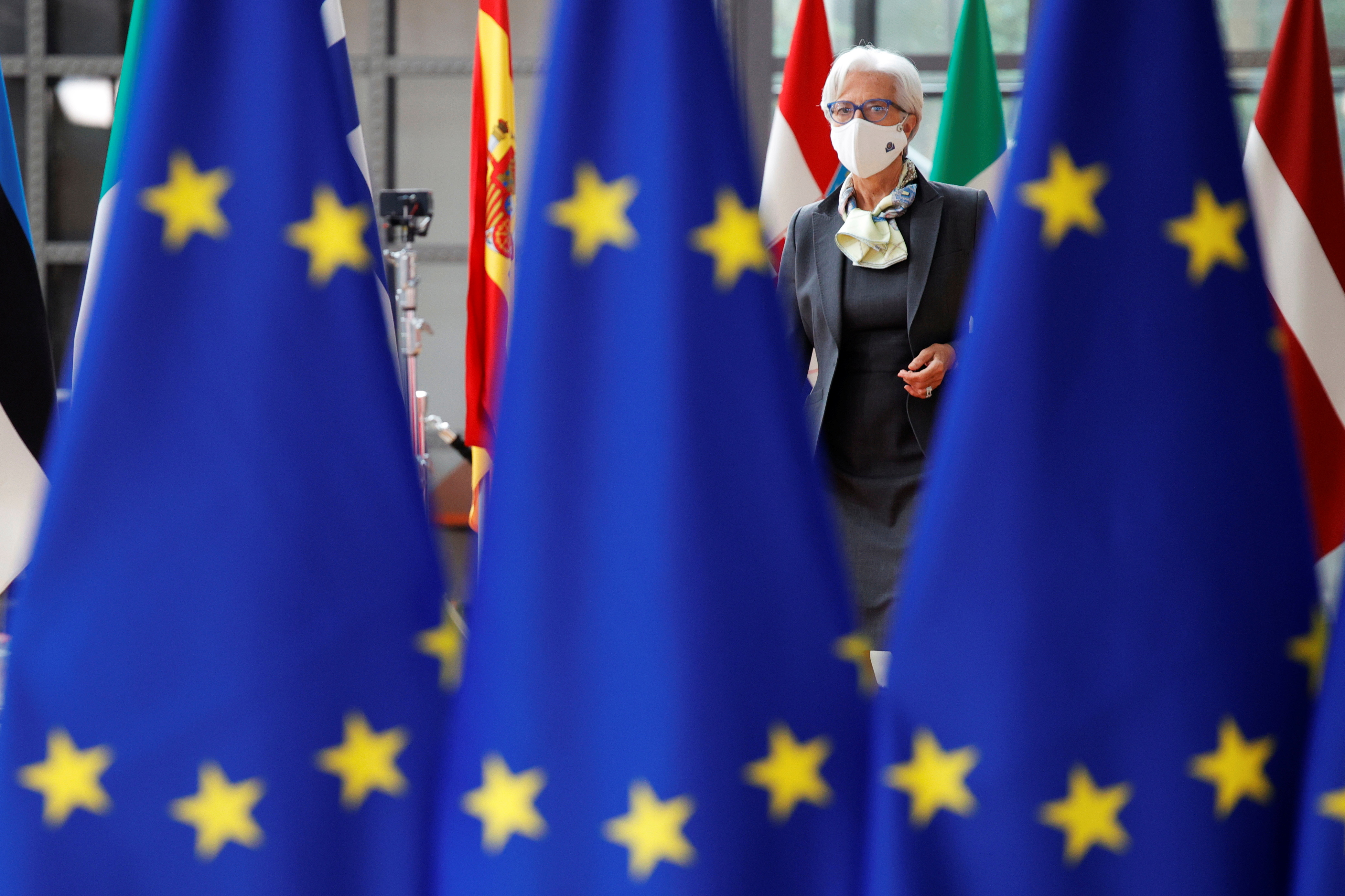 European Central Bank President Christine Lagarde arrives for the second day of a EU summit at the European Council building in Brussels, Belgium June 25, 2021.