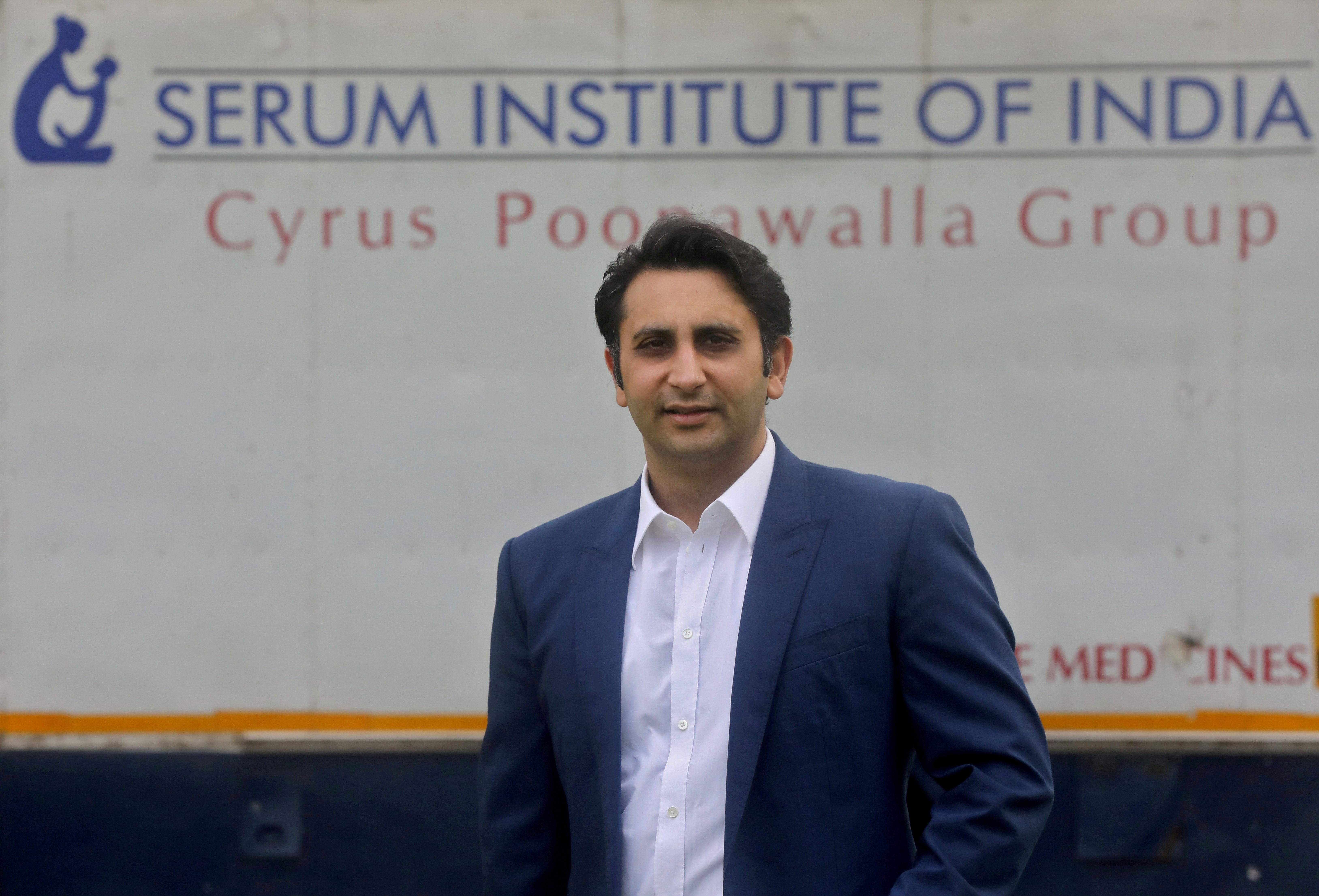 Adar Poonawalla, Chief Executive Officer (CEO) of the Serum Institute of India poses for a picture at the Serum Institute of India, Pune, India, 30 November 2020. REUTERS/Francis Mascarenhas/File Photo