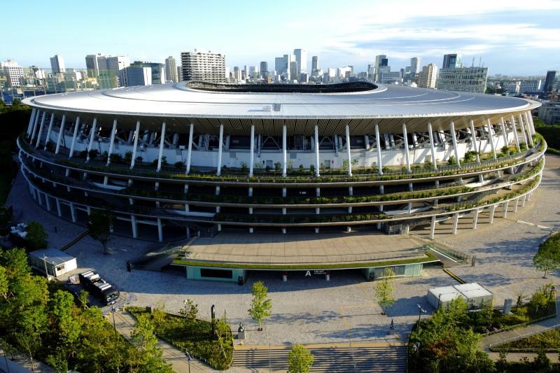 A general view of the Olympic Stadium (National Stadium) in Tokyo,  Japan June 17, 2021. REUTERS/Pawel Kopczynski