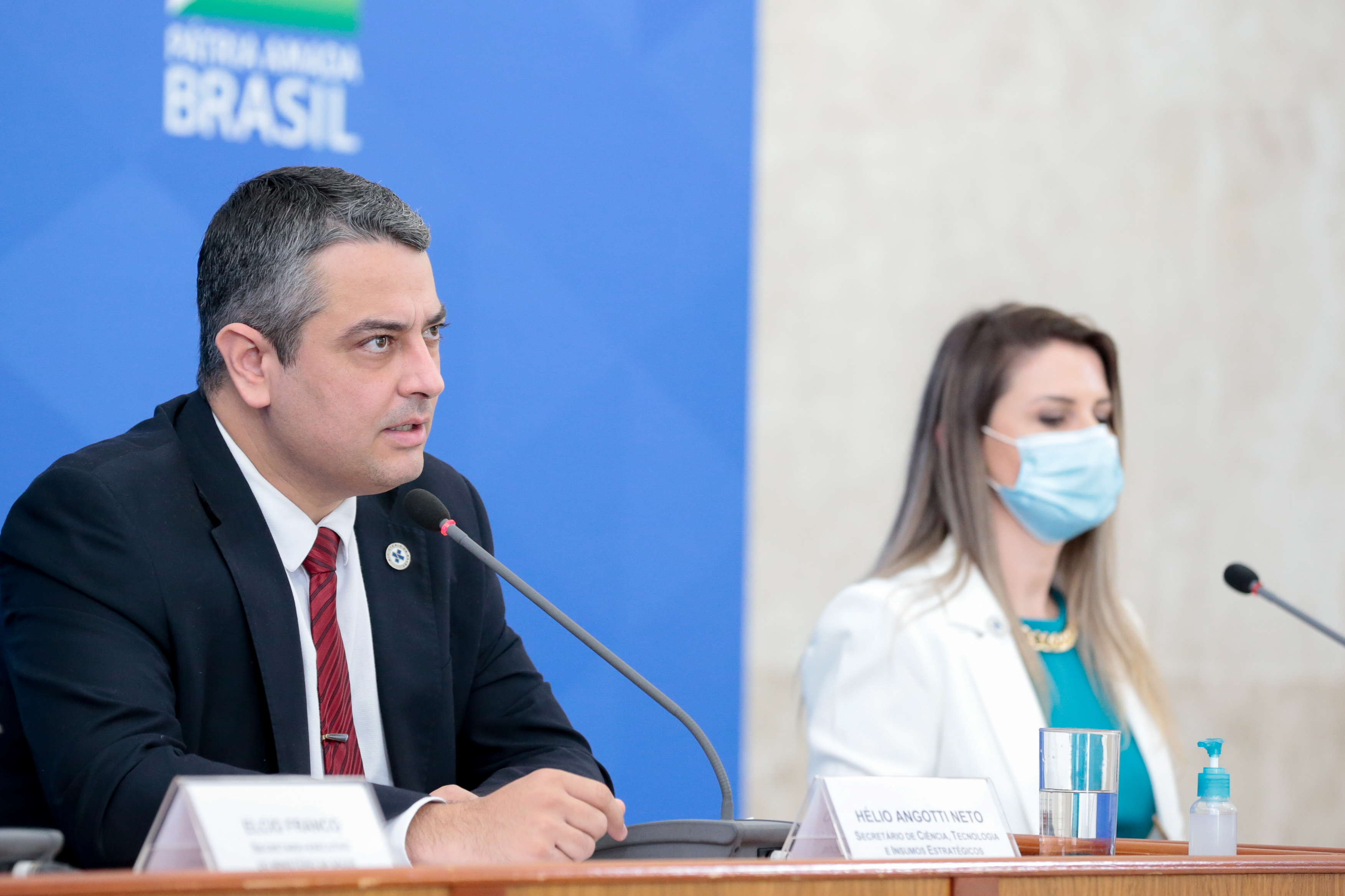 Helio Angotti Neto, chief of the Health Ministry's Science, Technology, Innovation and Strategic Inputs department attends a news conference in Brasilia, Brazil June 27, 2020. Carolina Antunes/Brazilian Presidency via REUTERS
