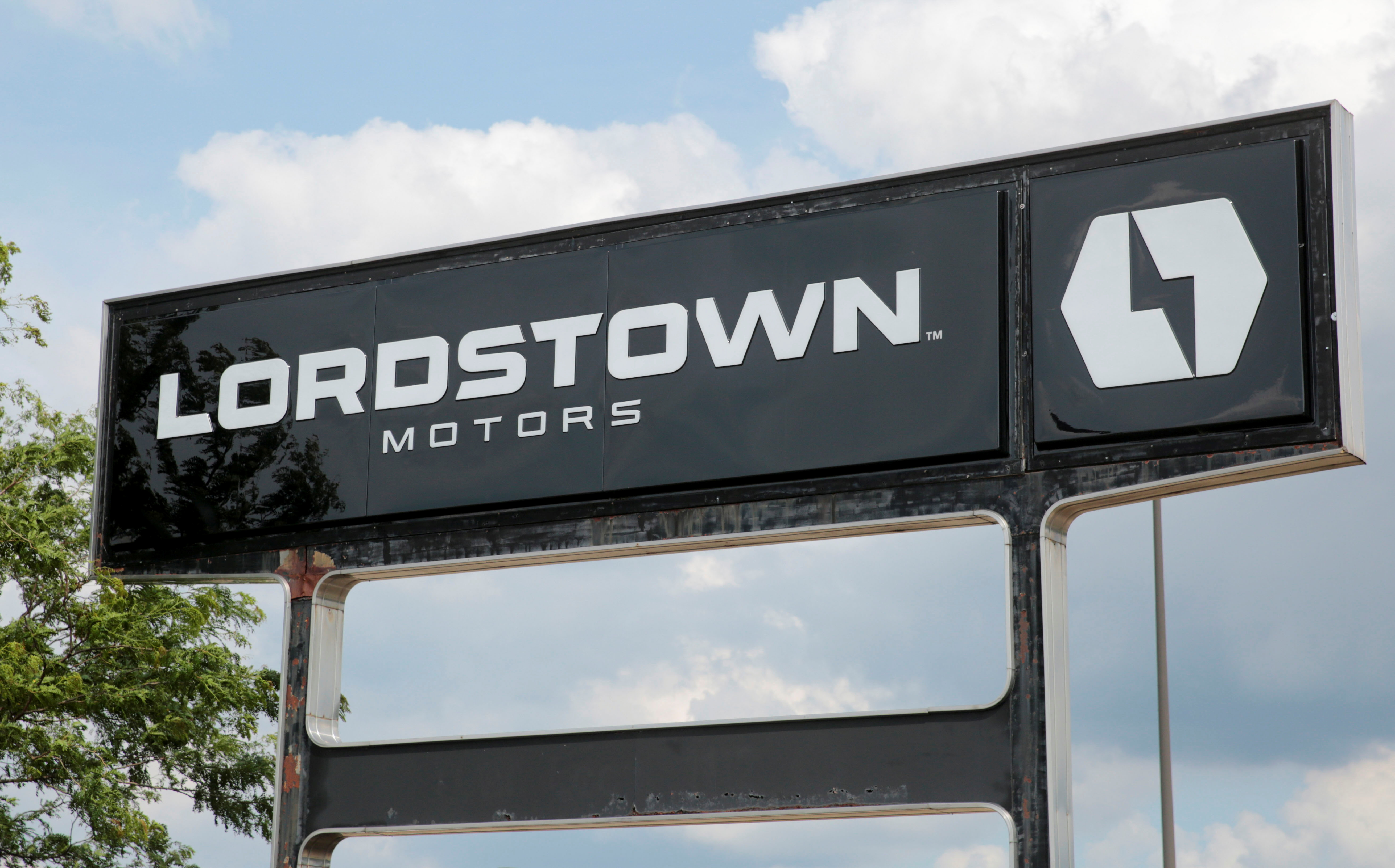 A Lordstown Motors sign is seen outside the Lordstown Assembly Plant in Lordstown, Ohio, U.S., June 21, 2021. REUTERS/Rebecca Cook