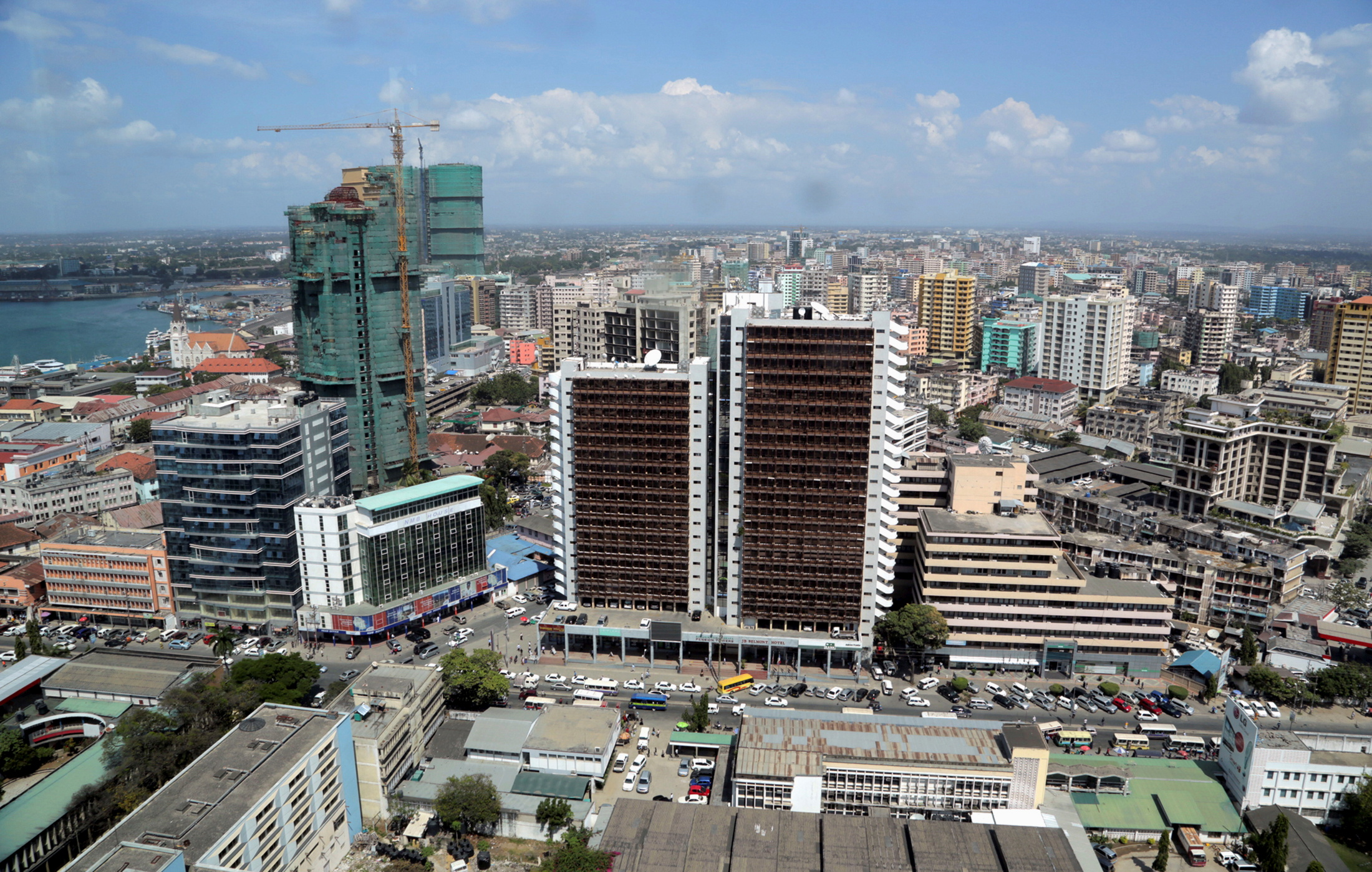 A general picture shows the skyline of Tanzania's port city of Dar es Salaam, July 12, 2013. REUTERS/Andrew Emmanuel/File Photo