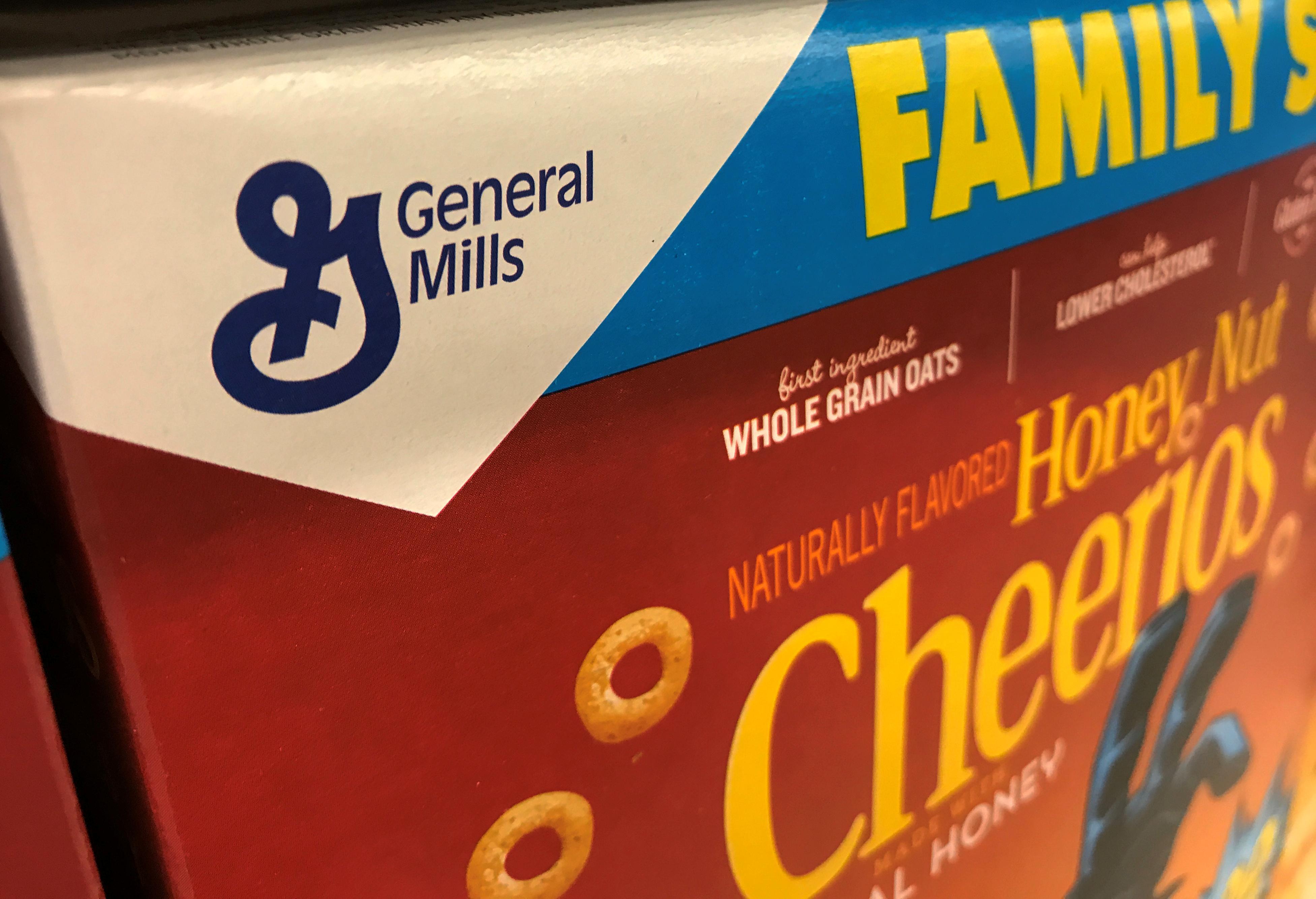 General Mills breakfast cereal is shown for sale in Carlsbad, California, U.S., June 27, 2017.  REUTERS/ Mike Blake