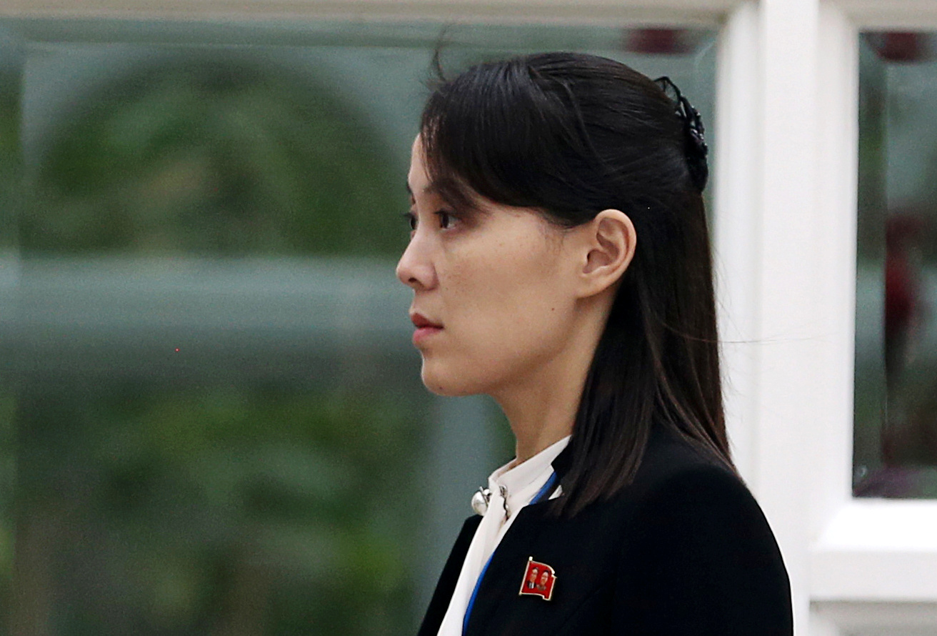 Kim Yo Jong, sister of North Korea's leader Kim Jong Un and first vice department director of the ruling Workers' Party's Central Committee, looks on in the garden of the Metropole hotel during the second North Korea-U.S. summit in Hanoi, Vietnam February 28, 2019. REUTERS/Leah Millis