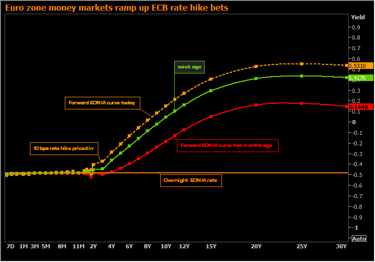 ECB rate hike bets jump
