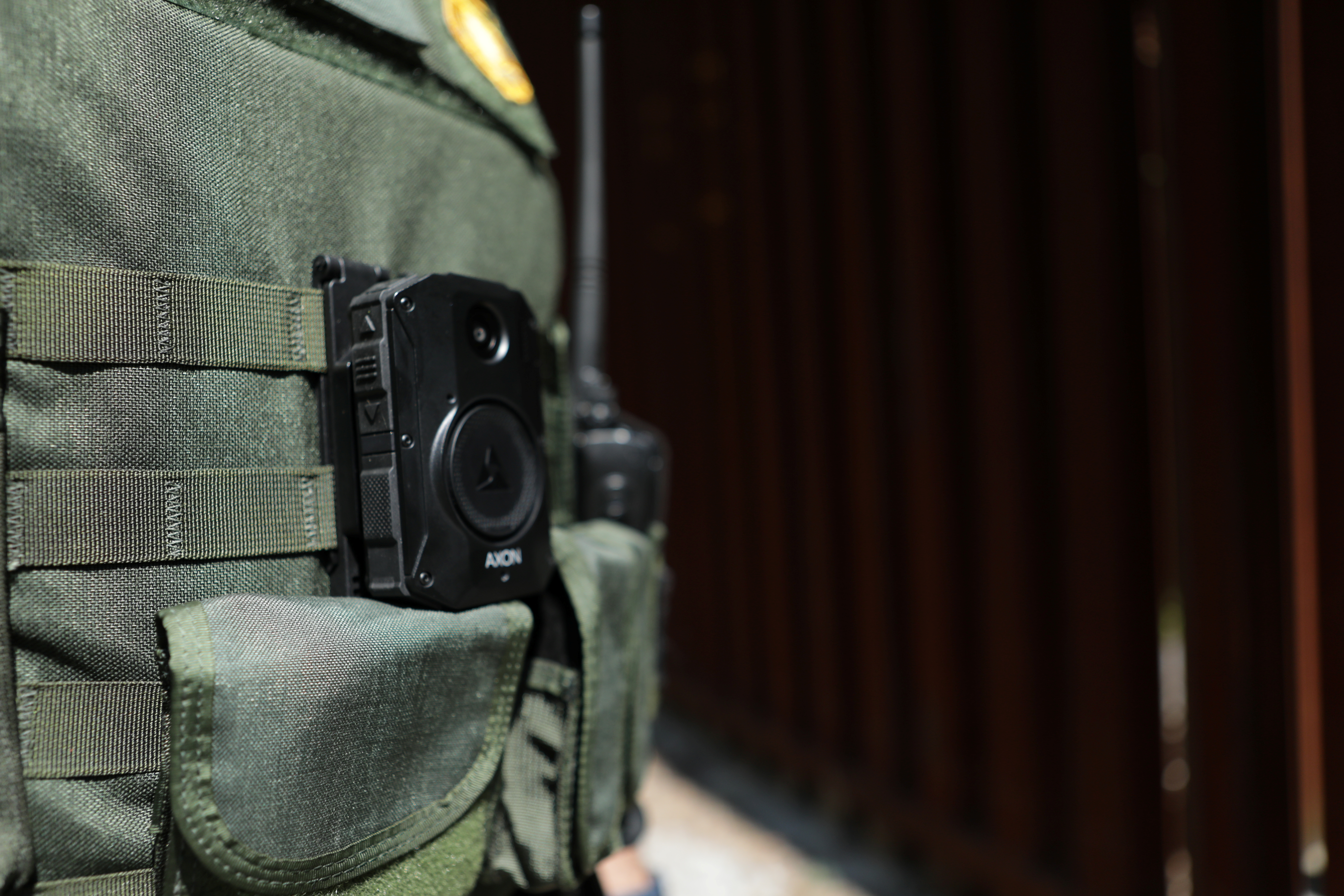 A CBP border agent wears a body camera in this undated handout photo as the United States will require thousands of border agents to wear body cameras, according to three officials and government documents.   CBP/Handout via REUTERS