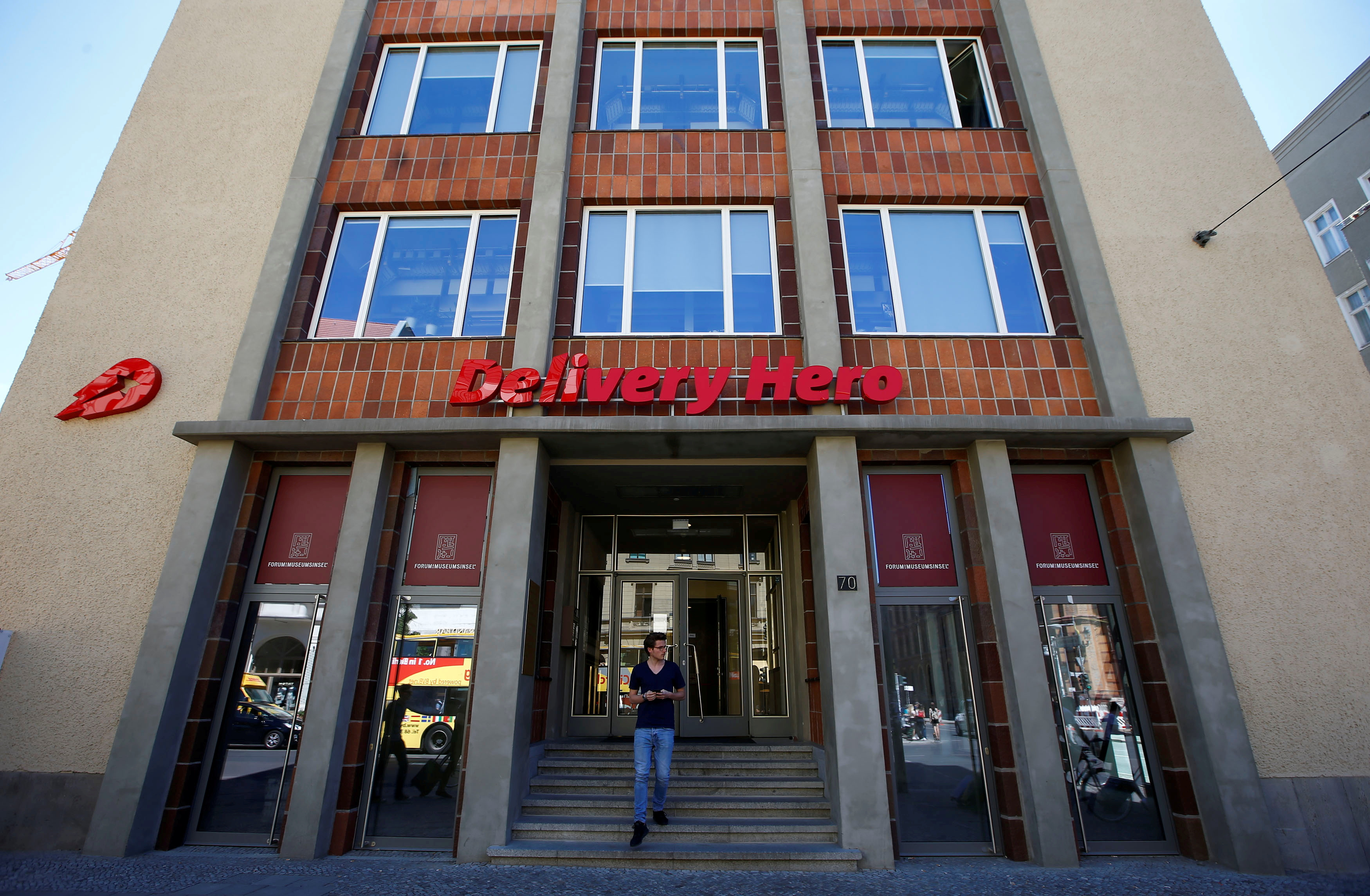 The Delivery Hero headquarters is pictured in Berlin, Germany, June 2, 2017. The Berlin-based company Delivery Hero, one of Europe's largest internet start-ups. REUTERS/Fabrizio Bensch/File Photo