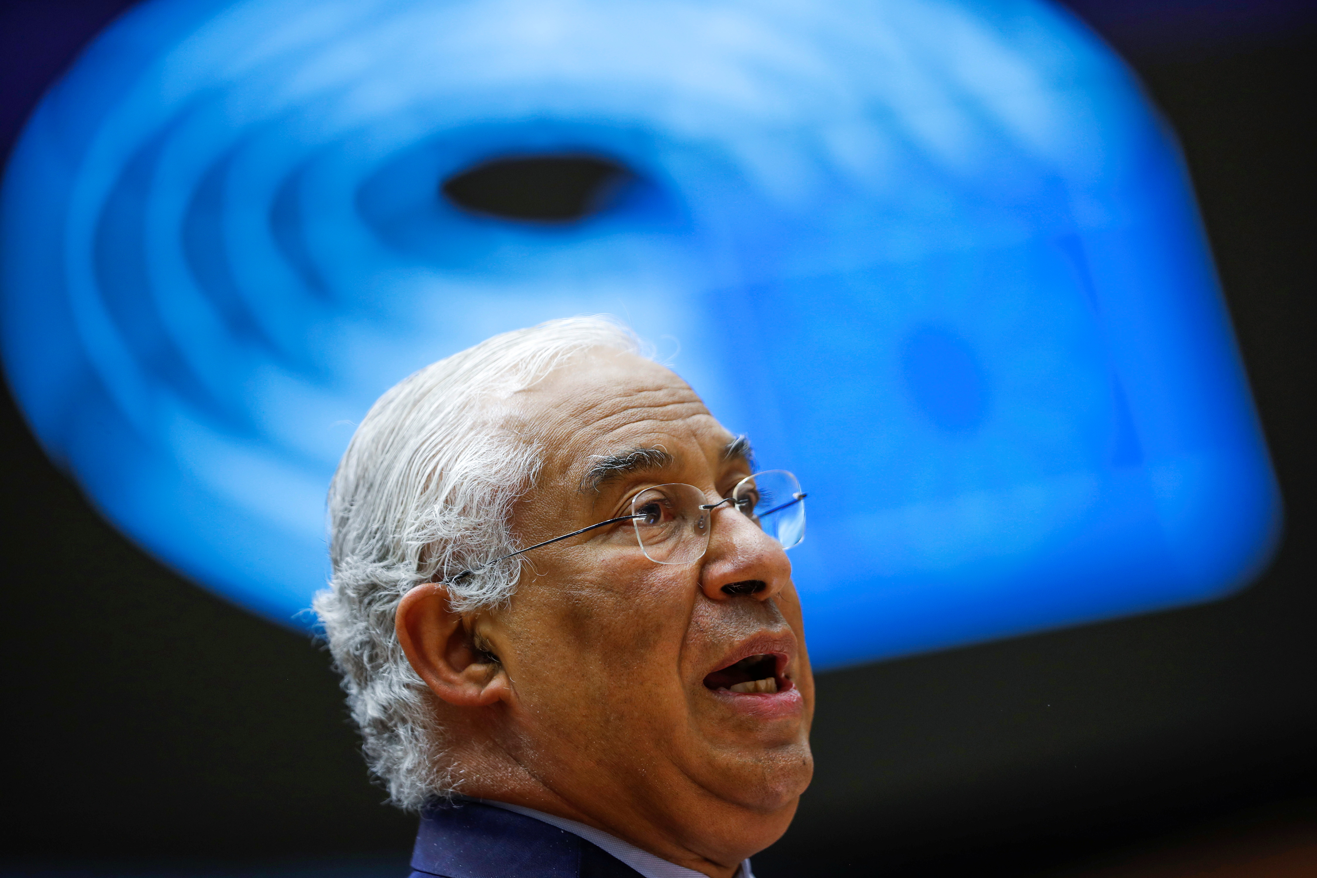 Portuguese Prime Minister Antonio Costa addresses European lawmakers during the presentation of the programme of activities of the Portugal