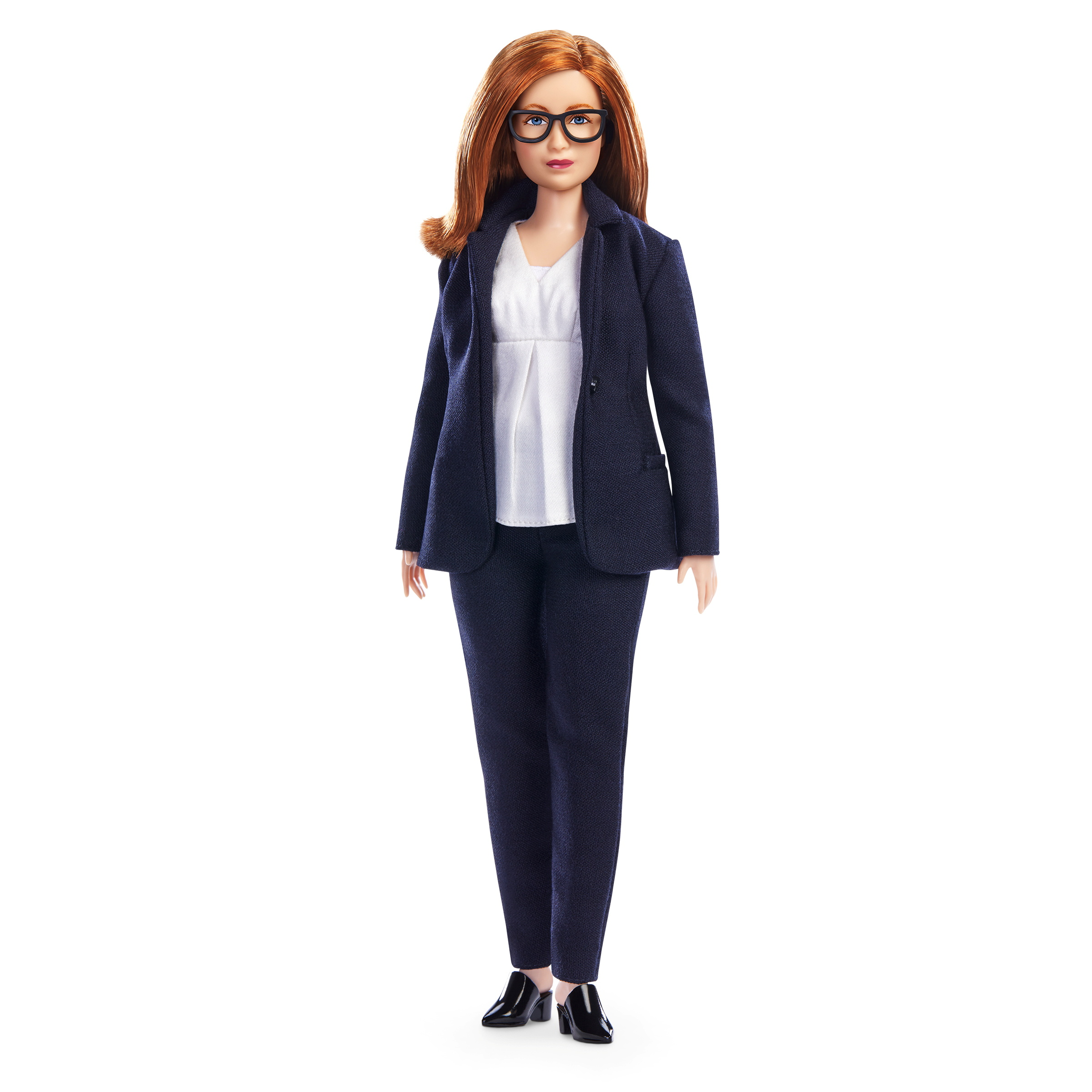 An undated handout image of a Barbie doll made in the likeness of Sarah Gilbert, the Oxford University professor who co-designed the Oxford/AstraZeneca vaccine. University of Oxford/via REUTERS