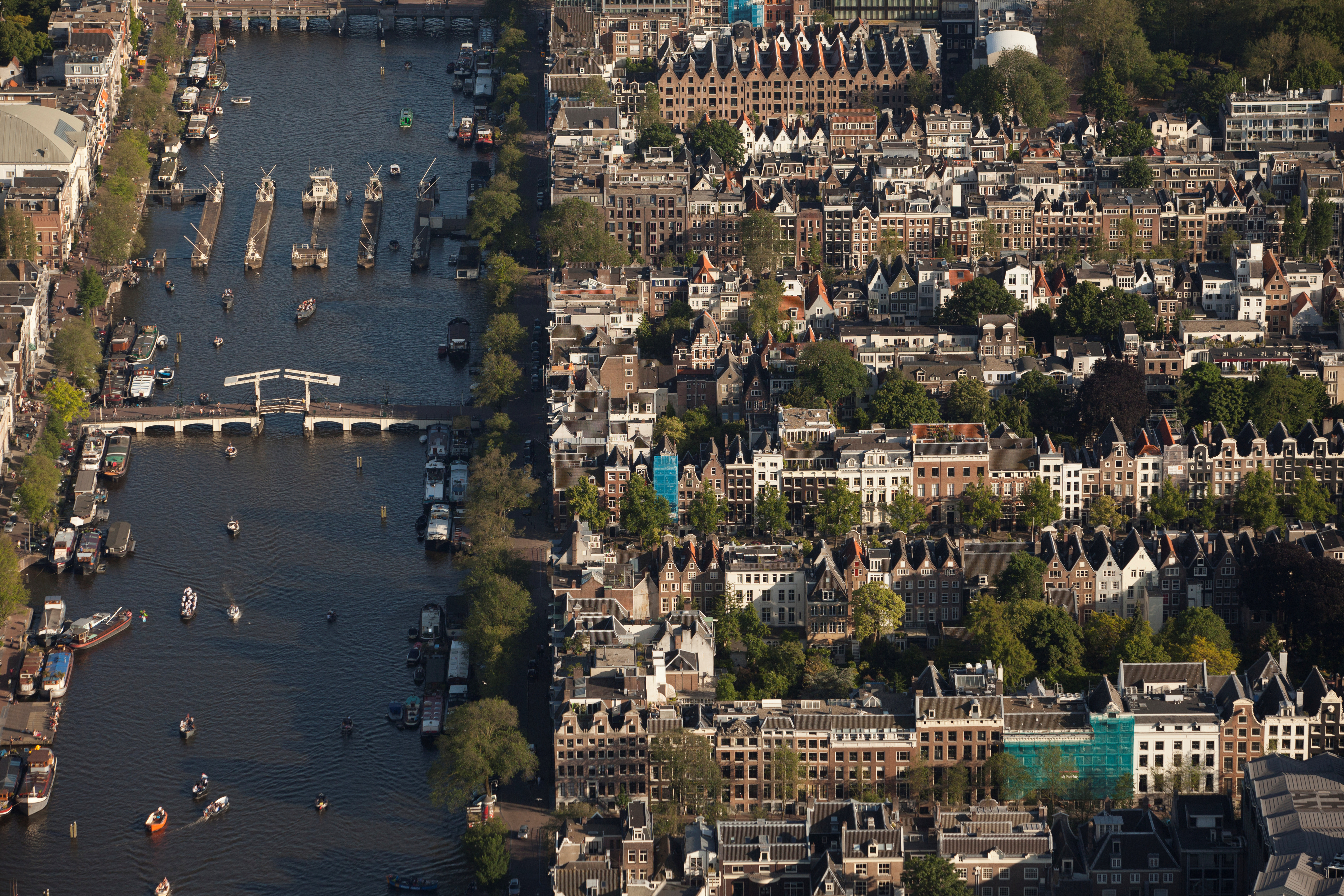 The Amstel river is pictured in this aerial shot of Amsterdam, Netherlands, June 14, 2017. REUTERS/Cris Toala Olivares