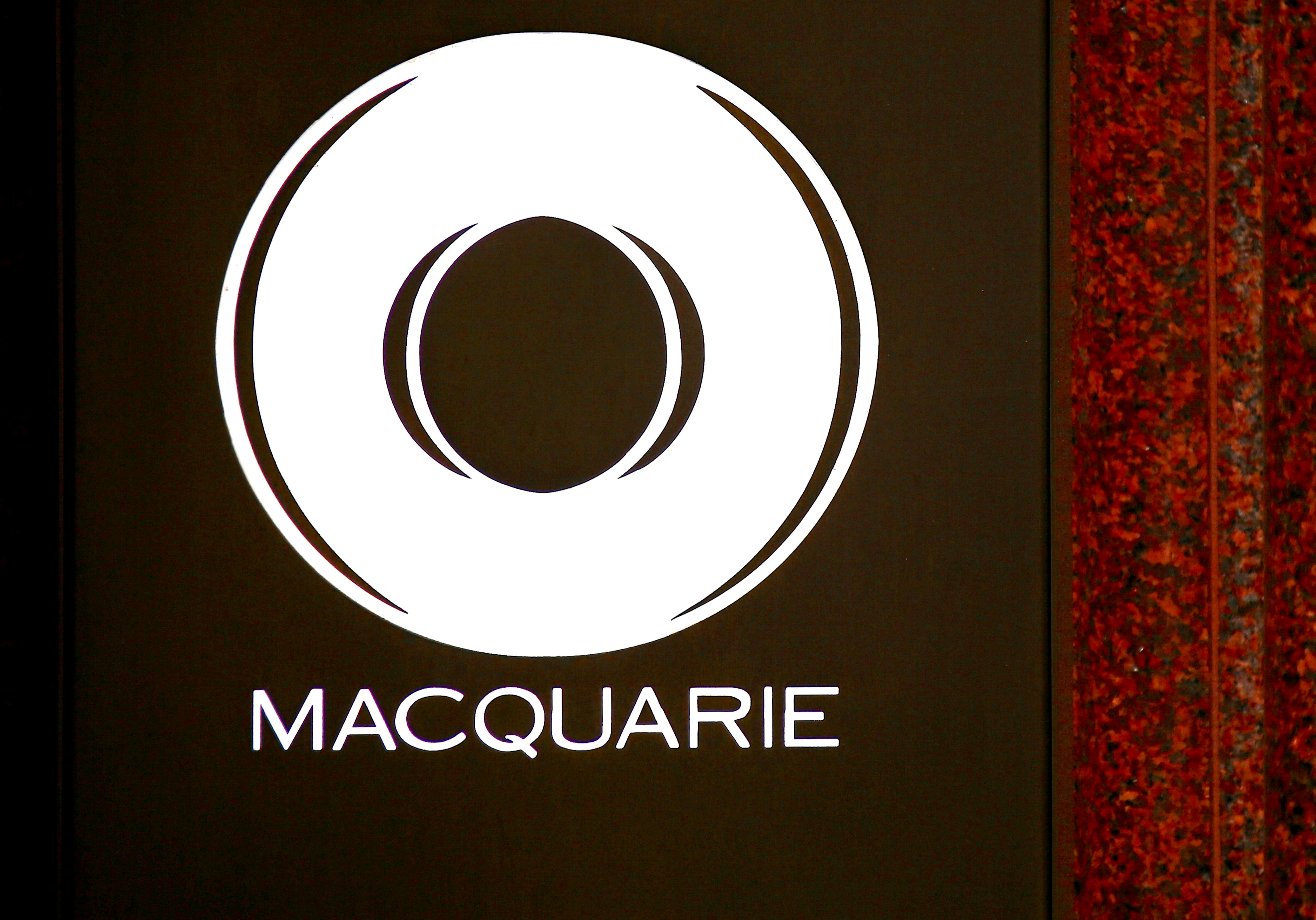 The logo of Australia's investment bank Macquarie Group Ltd adorns the main entrance to their Sydney headquarters in Australia, October 28, 2016.   REUTERS/David Gray/File Photo