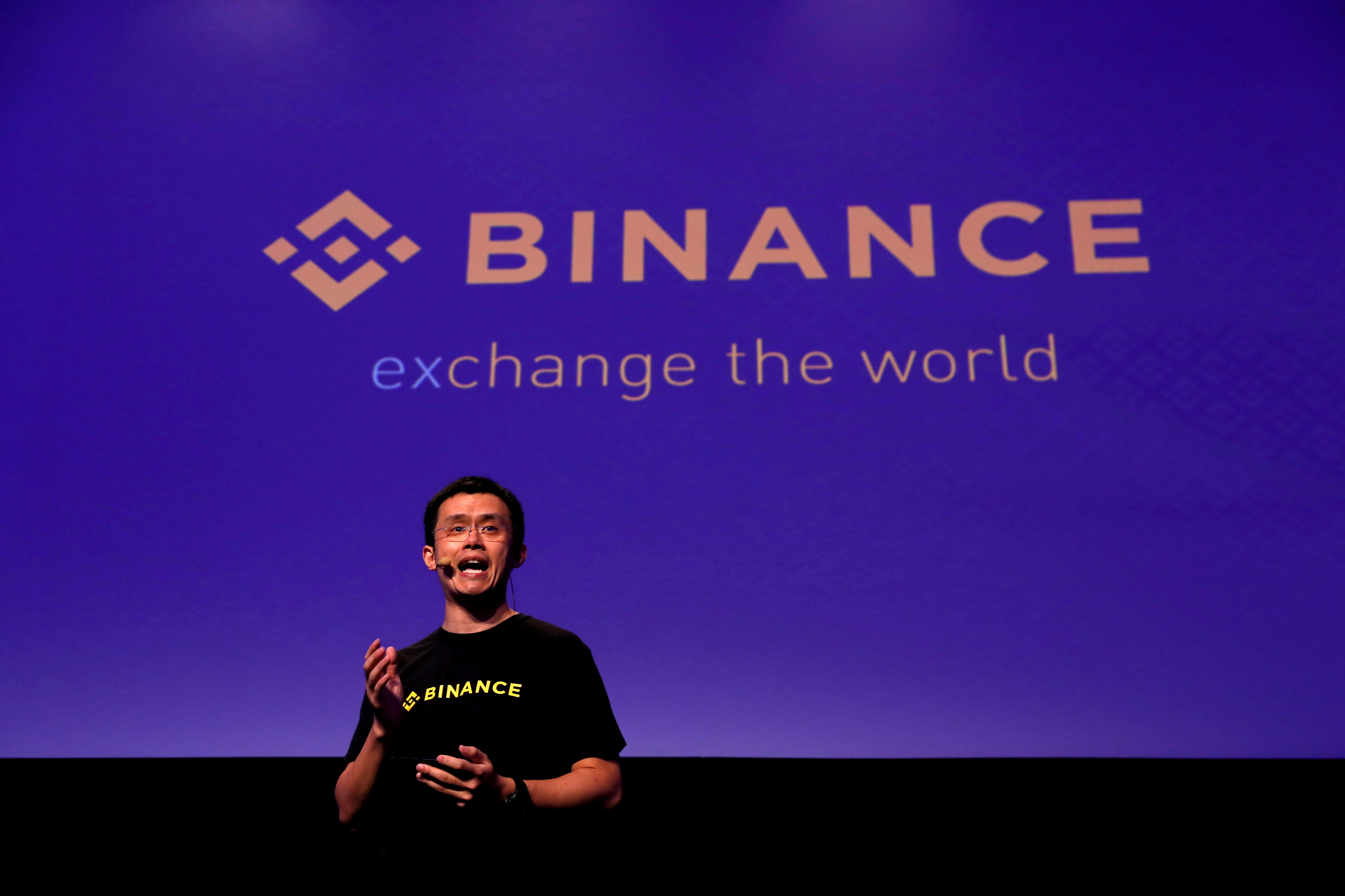 Changpeng Zhao, CEO of Binance, speaks at the Delta Summit, Malta's official Blockchain and Digital Innovation event promoting cryptocurrency, in St Julian's, Malta October 4, 2018. REUTERS/Darrin Zammit Lupi/File Photo