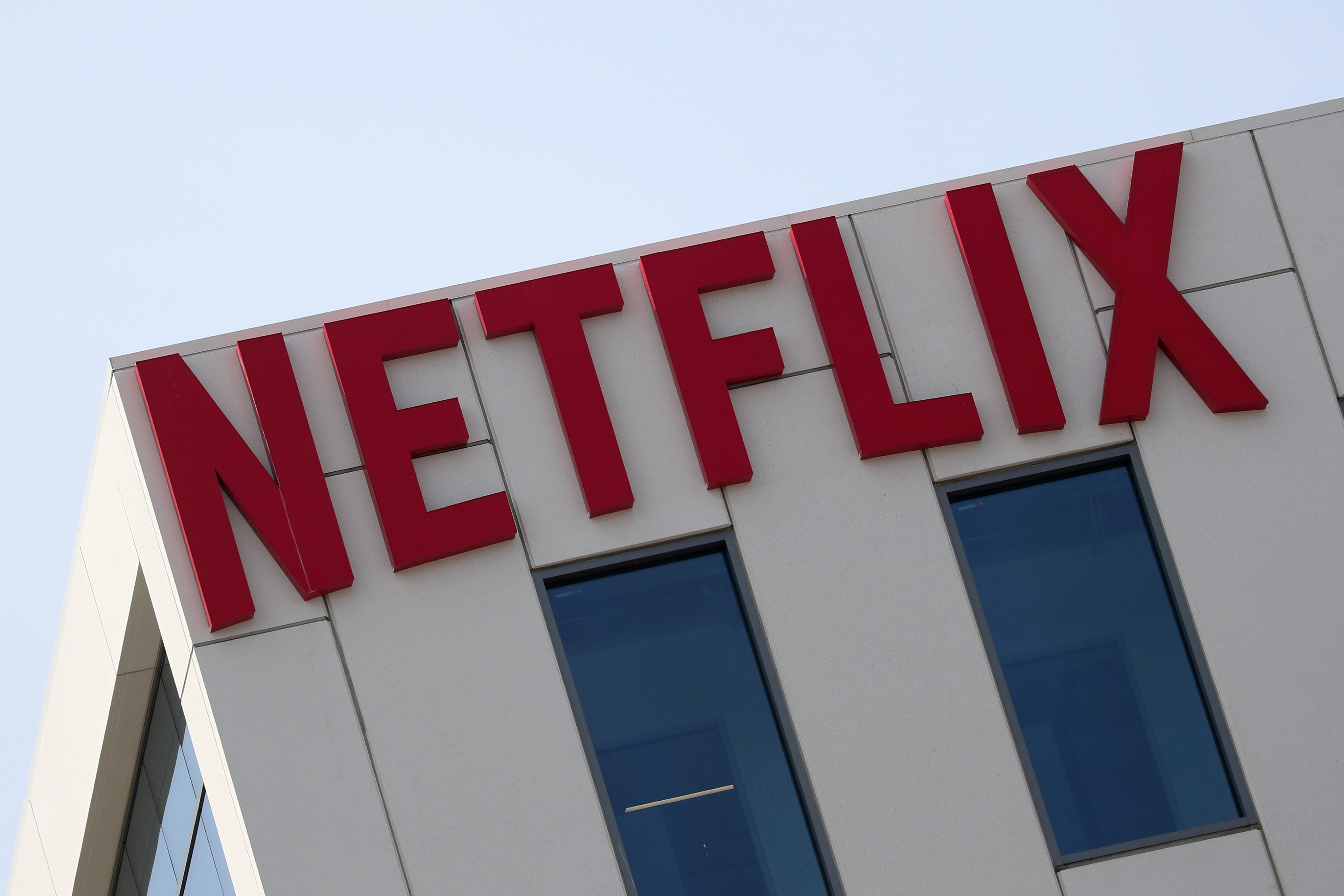 The Netflix logo is seen on their office in Hollywood, Los Angeles, California, U.S. July 16, 2018. REUTERS/Lucy Nicholson/File Photo