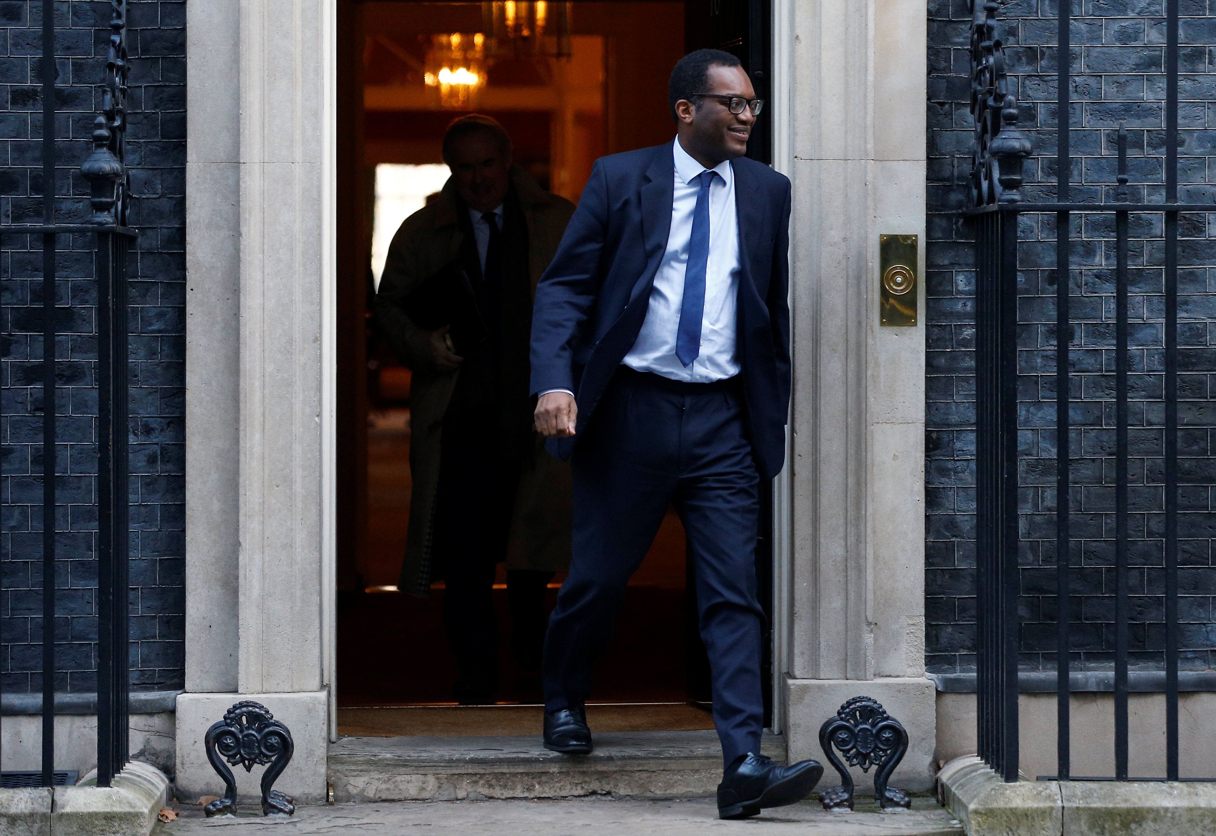 Britain's Business, Energy and Clean Growth Minister Kwasi Kwarteng is seen outside 10 Downing Street London, Britain, January 21, 2020. REUTERS/Henry Nicholls