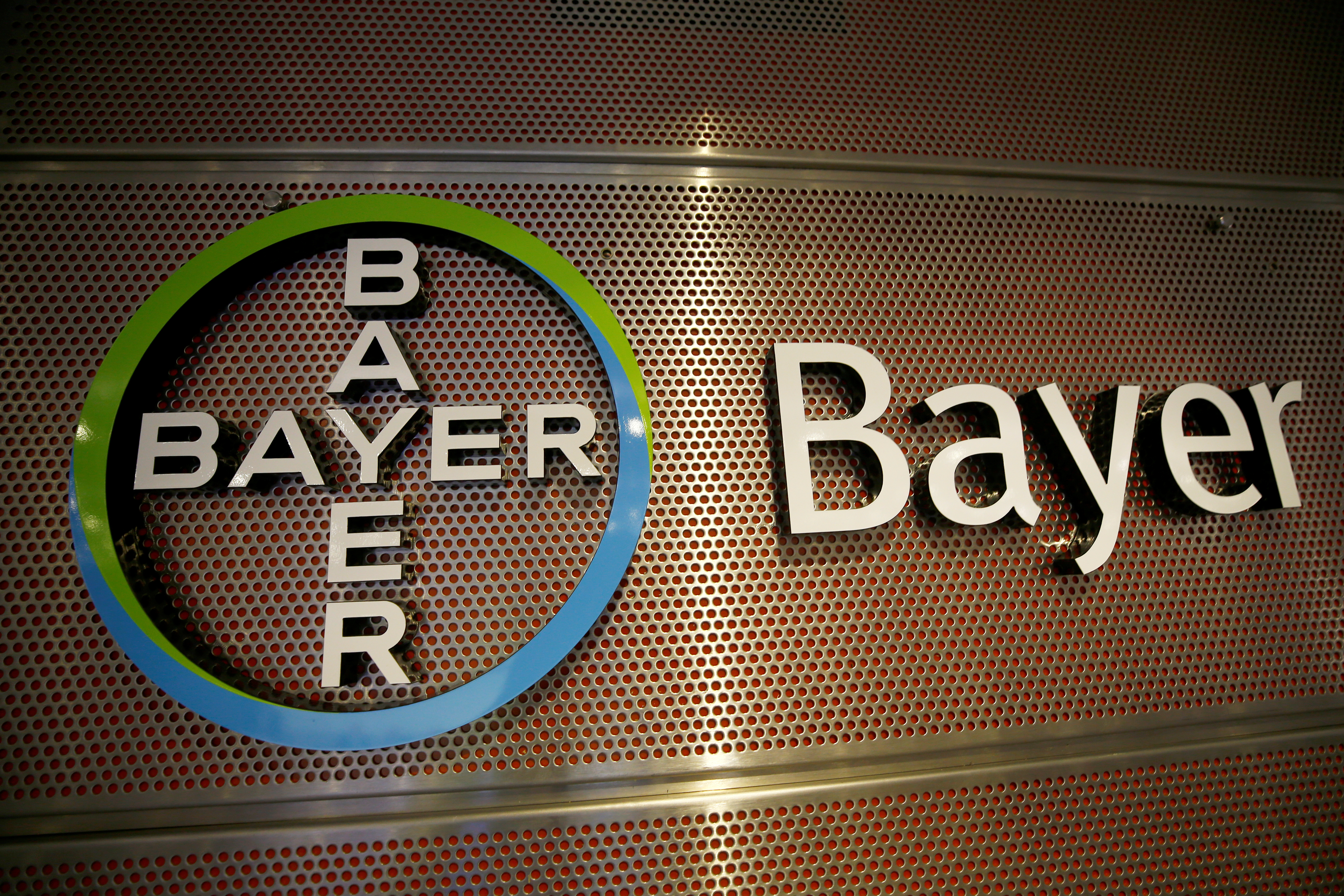 Logo of Bayer AG is pictured at the annual results news conference of the German drugmaker in Leverkusen, Germany February 27, 2019. REUTERS/Wolfgang Rattay/