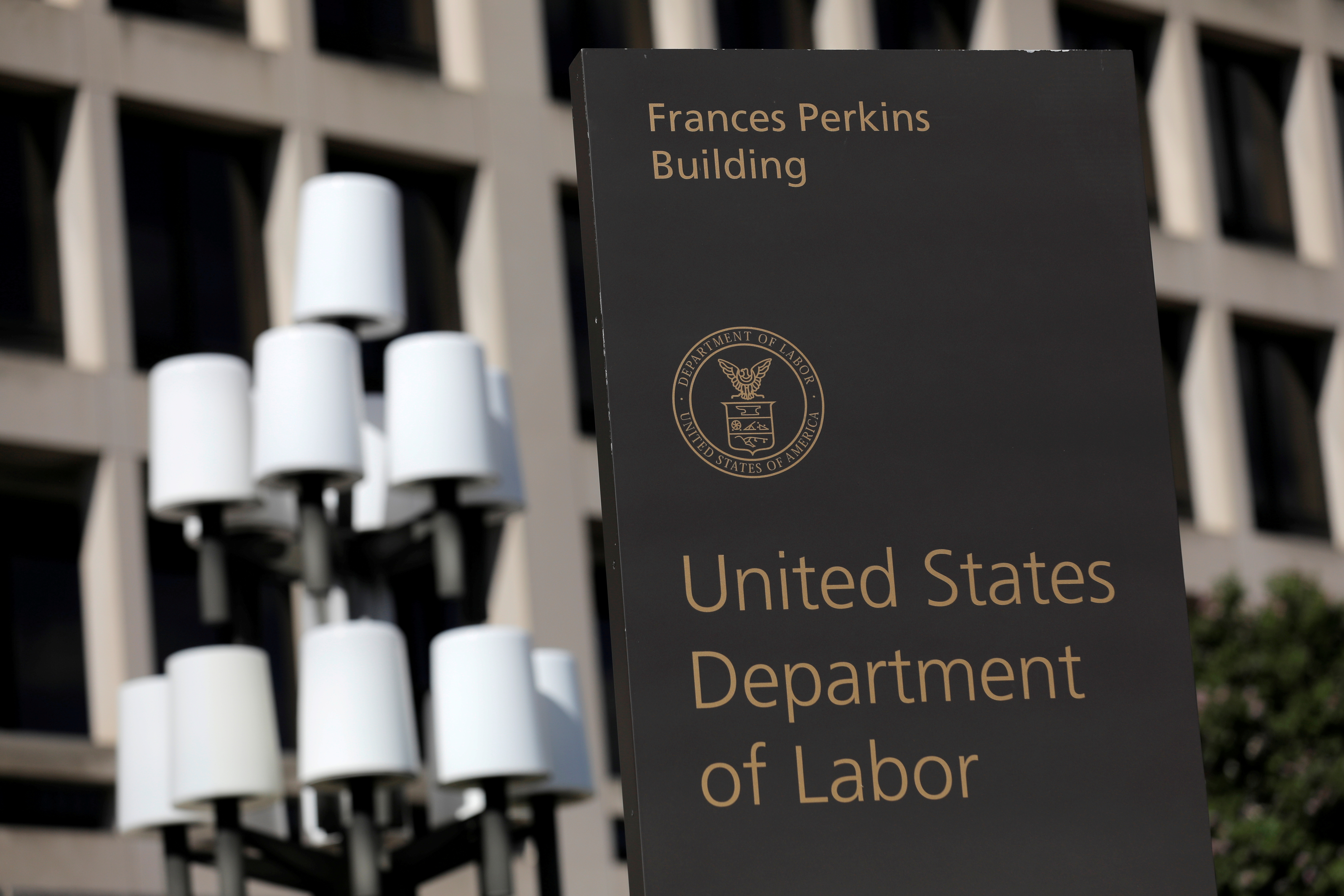 The United States Department of Labor is seen in Washington, D.C., U.S., August 30, 2020. REUTERS/Andrew Kelly