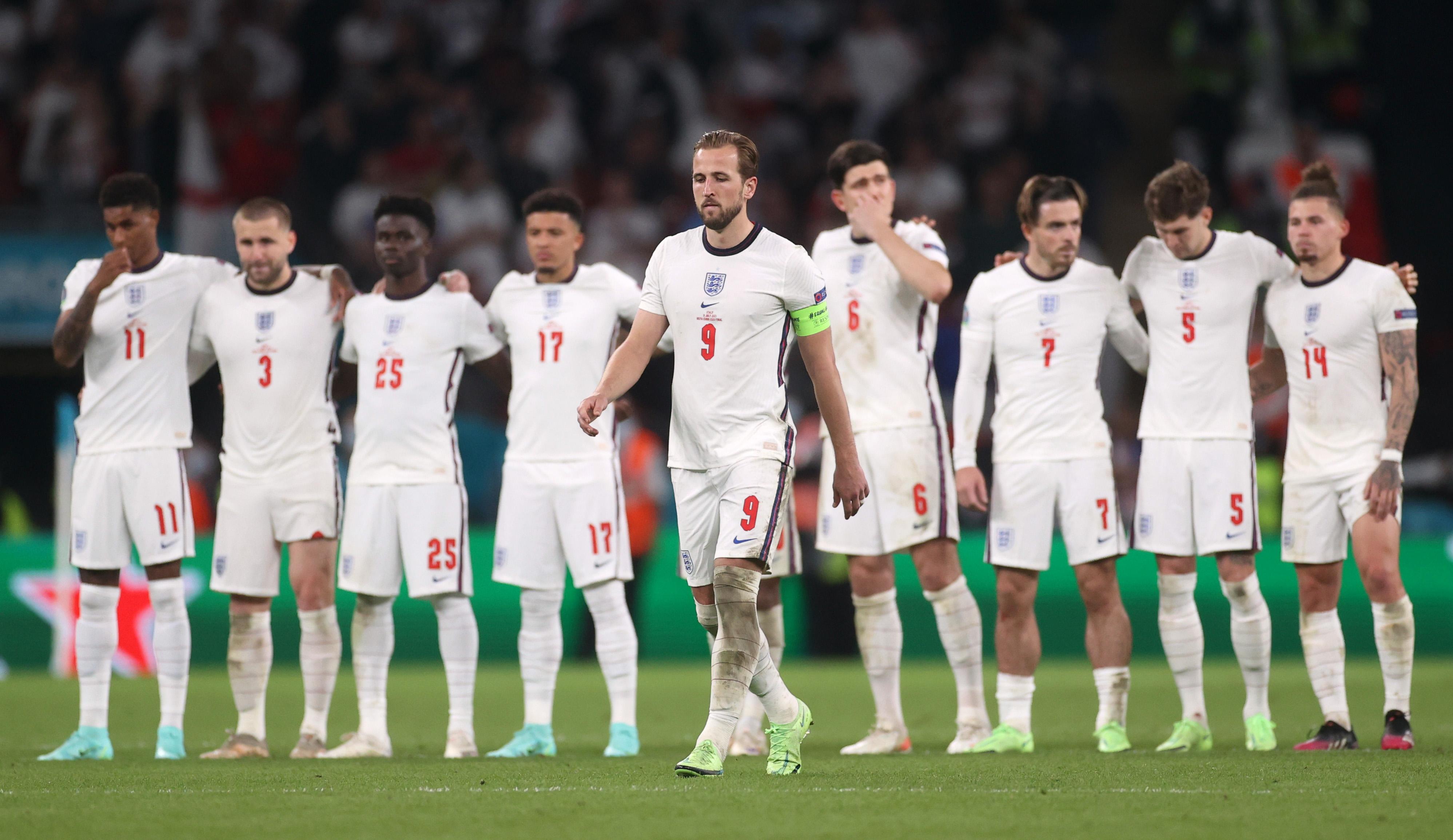 Soccer Football - Euro 2020 - Final - Italy v England - Wembley Stadium, London, Britain - July 11, 2021 England's Harry Kane walks up during a penalty shootout Pool via REUTERS/Carl Recine