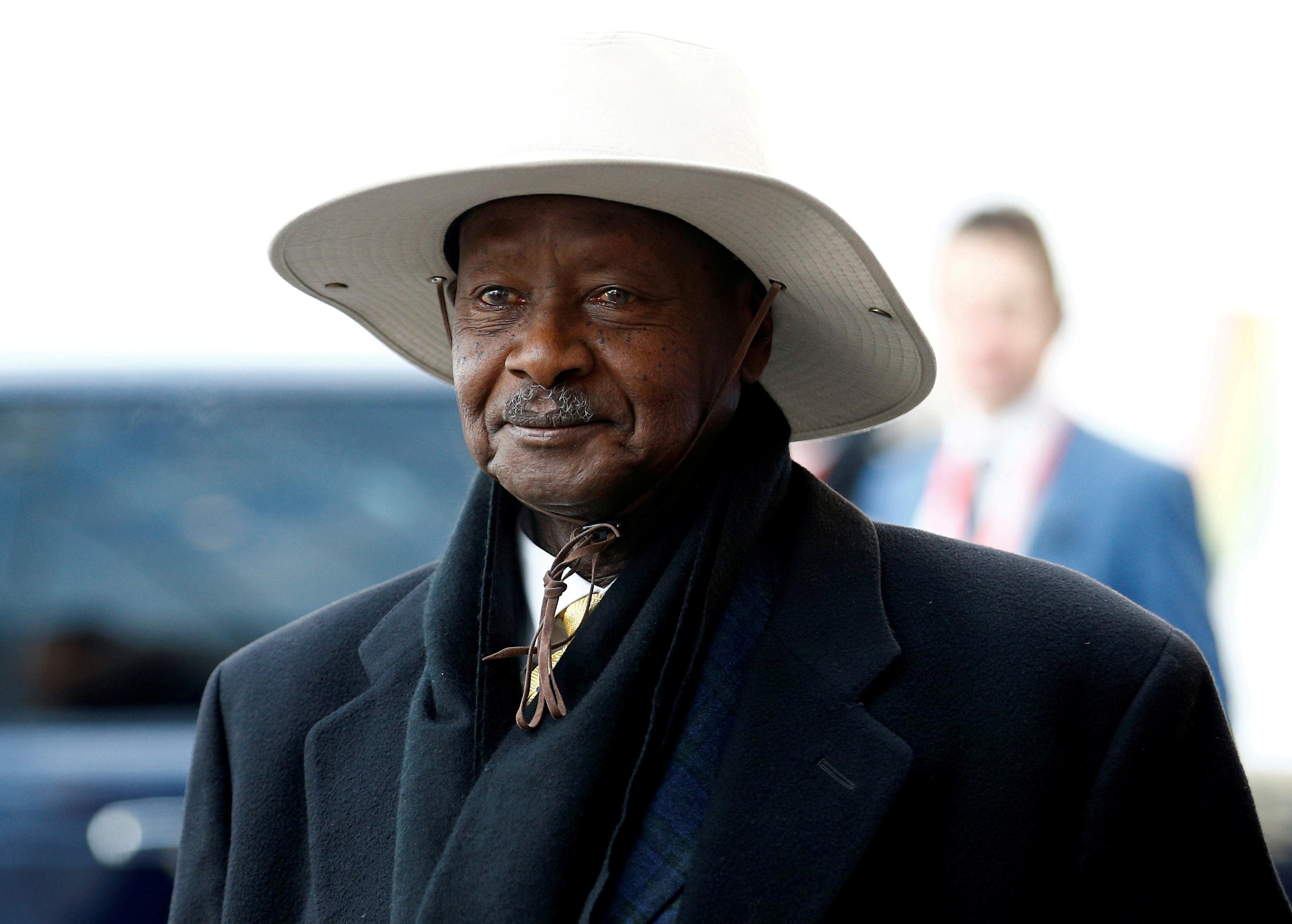 Uganda's President Yoweri Museveni arrives at the UK-Africa Investment Summit in London, Britain January 20, 2020. REUTERS/Henry Nicholls/File Photo/File Photo