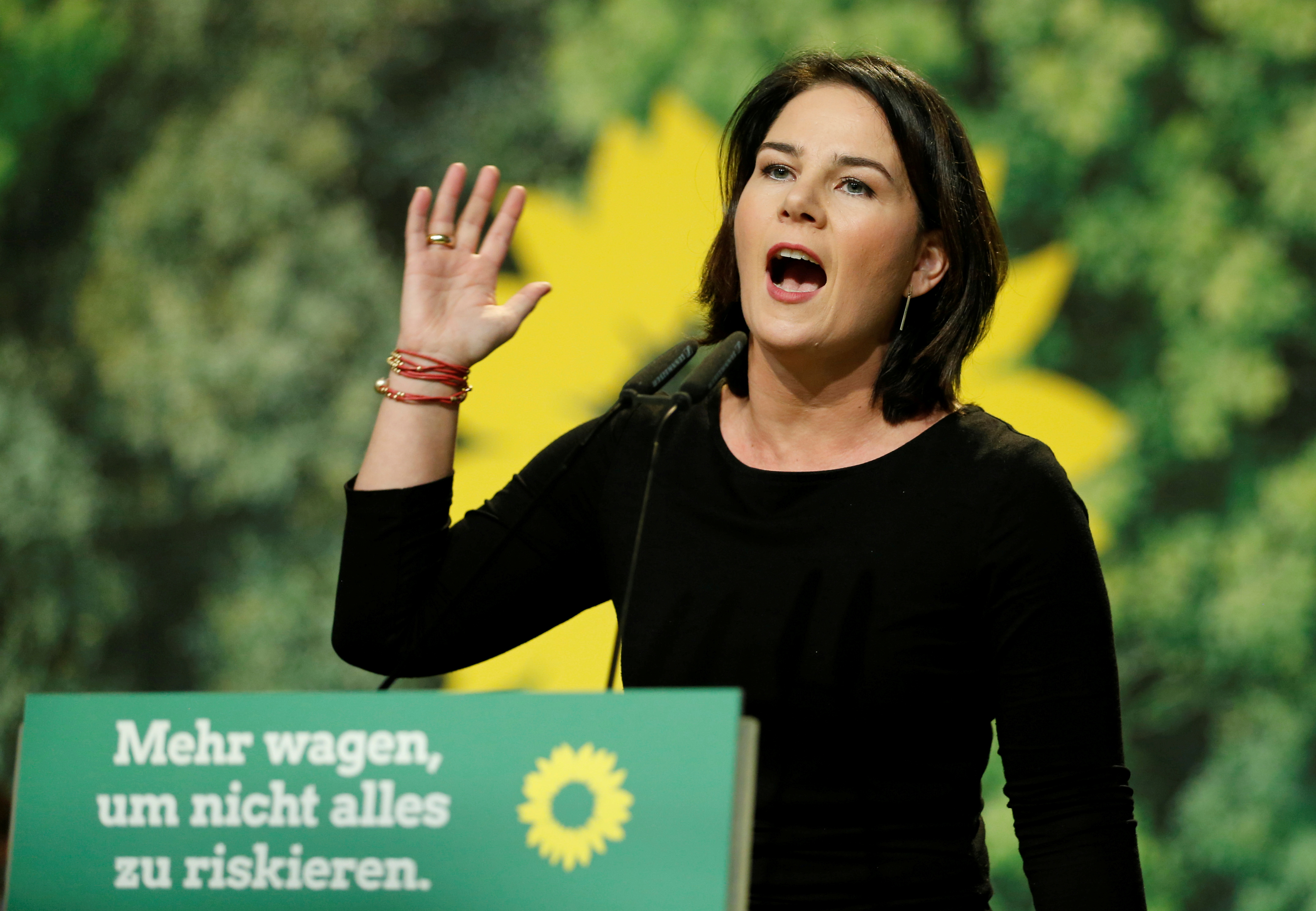Leader of Germany's Green Party Annalena Baerbock is seen during the delegates' conference in Bielefeld, Germany November 16, 2019. REUTERS/Leon Kuegeler
