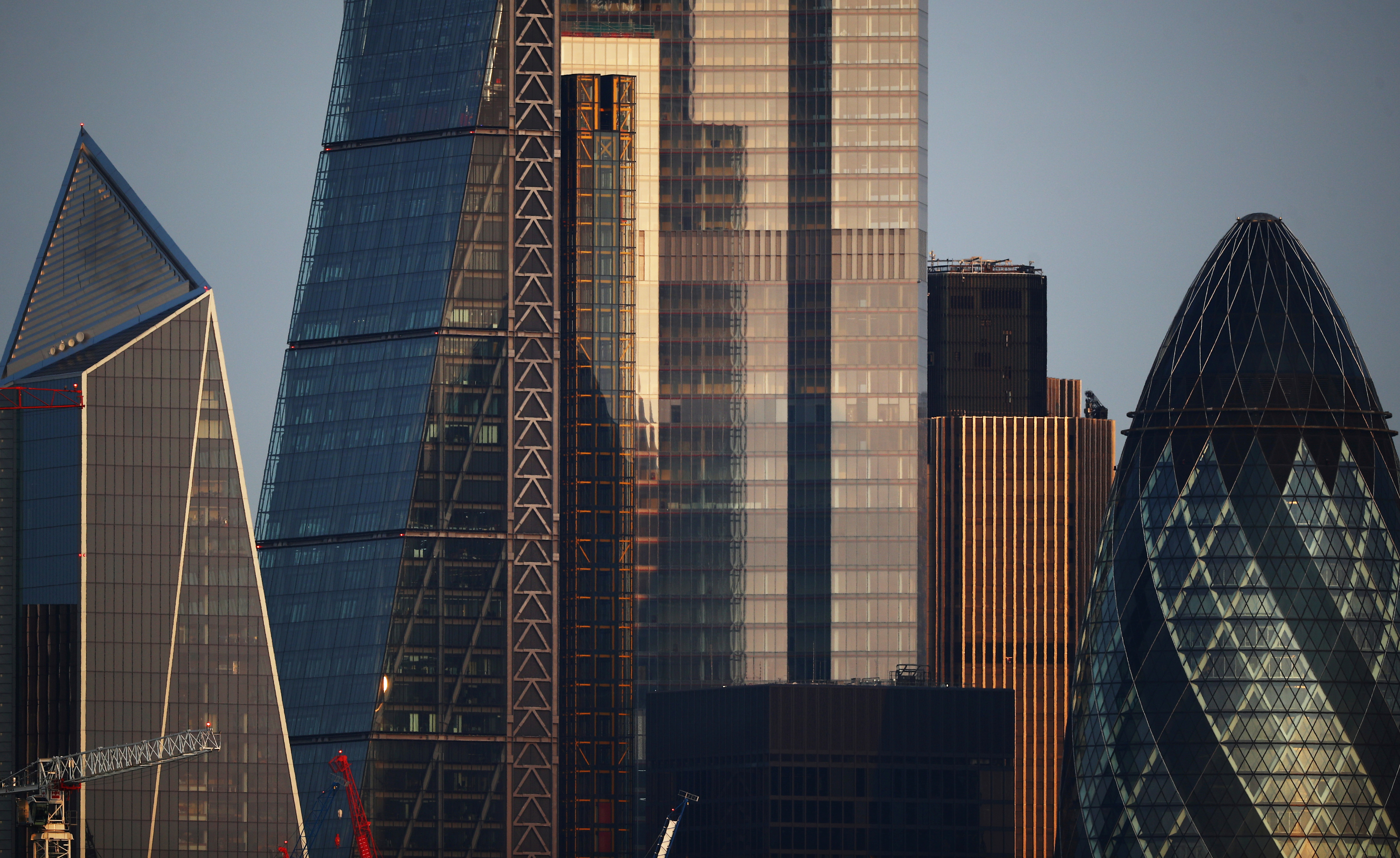 Skyscrapers in The City of London financial district are seen in London, Britain, September 14, 2020. REUTERS/Hannah McKay