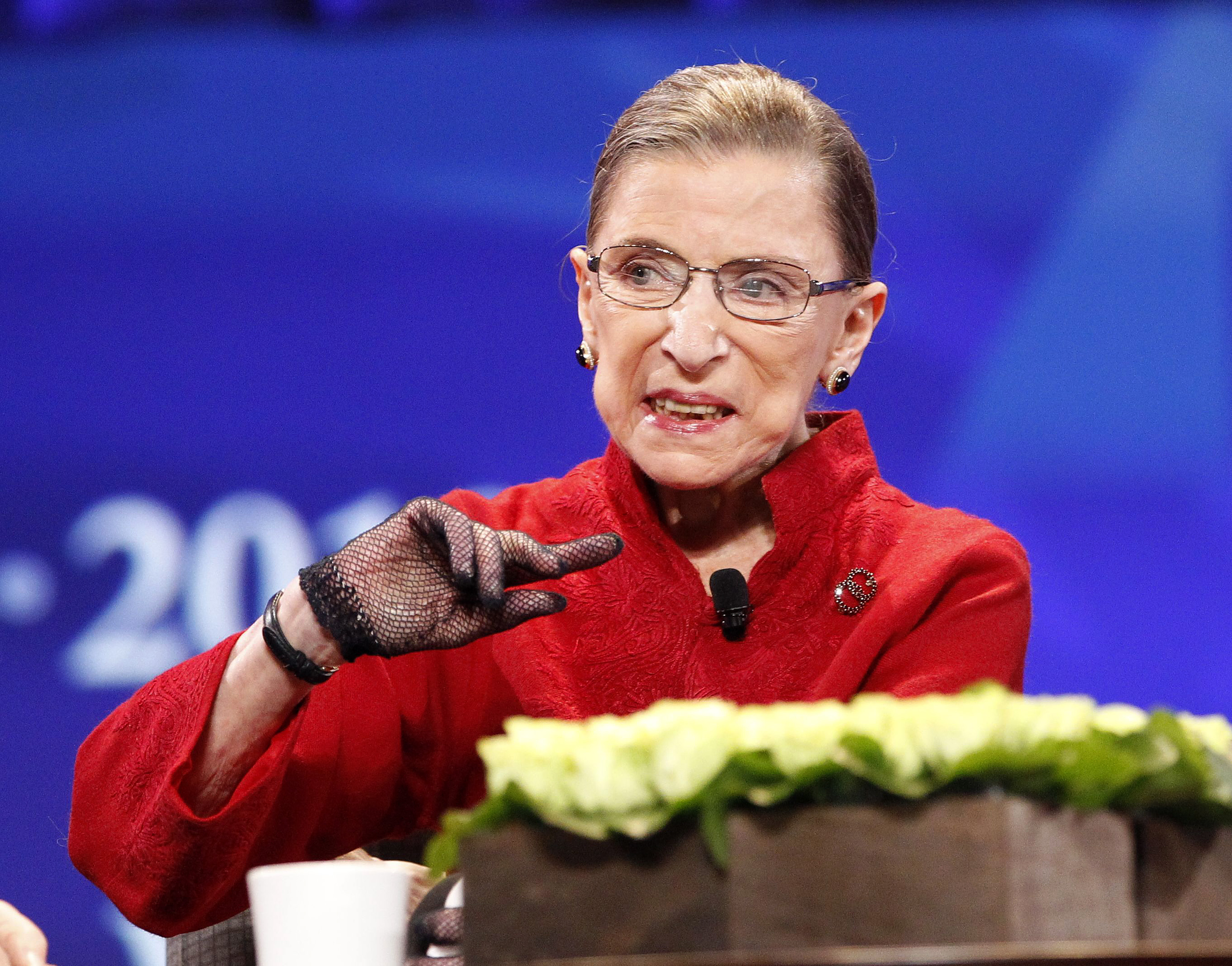 Justice Ruth Bader Ginsburg speaks during the lunch session of