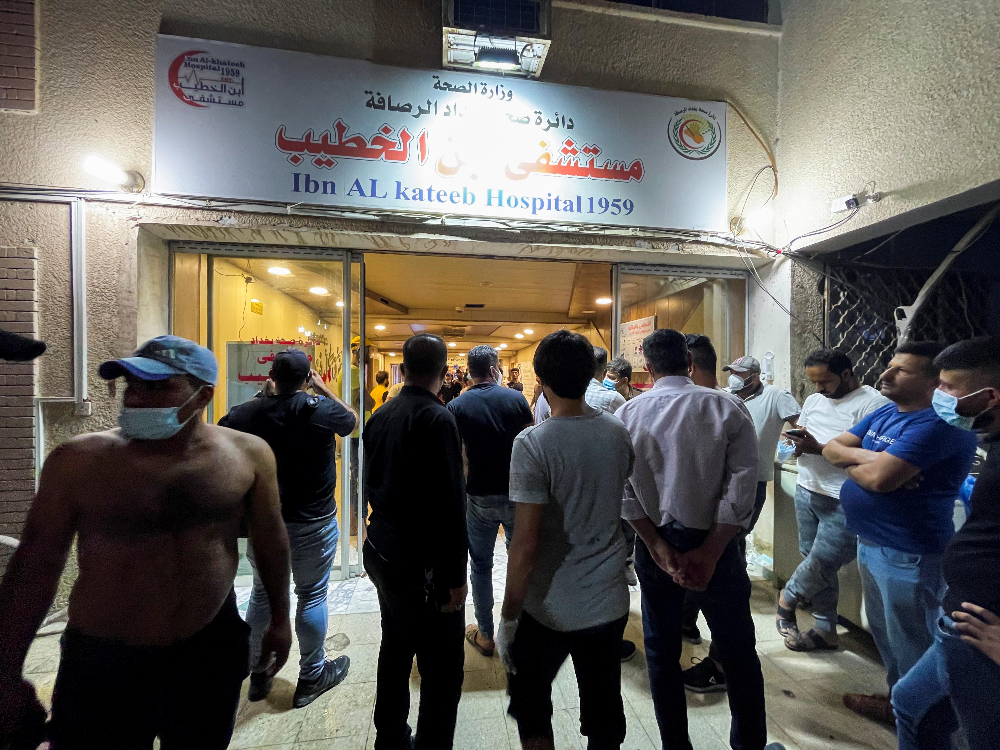 Fire from oxygen tank blast in Baghdad COVID-19 hospital kills 82 | Reuters