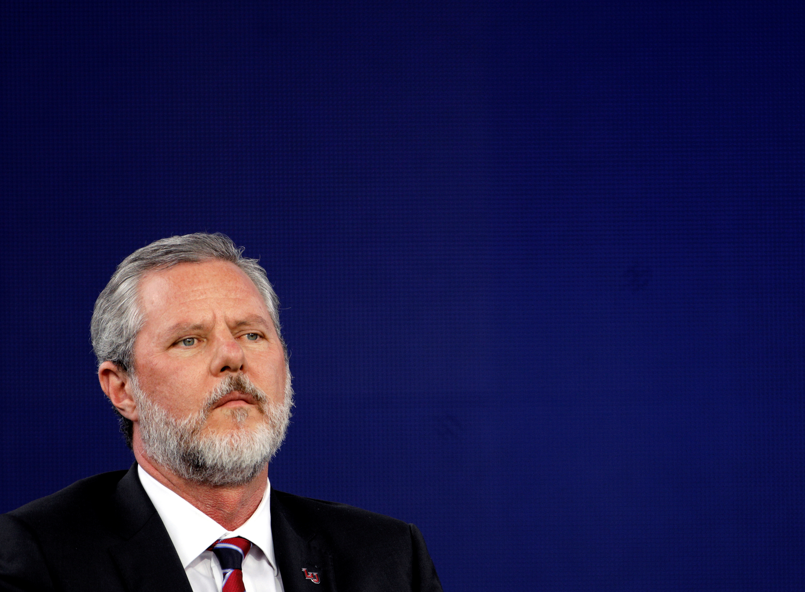 Liberty University President Jerry Falwell Jr., attends the school's commencement ceremonies in Lynchburg, Virginia, U.S., May 11, 2019.  REUTERS/Jonathan Drake