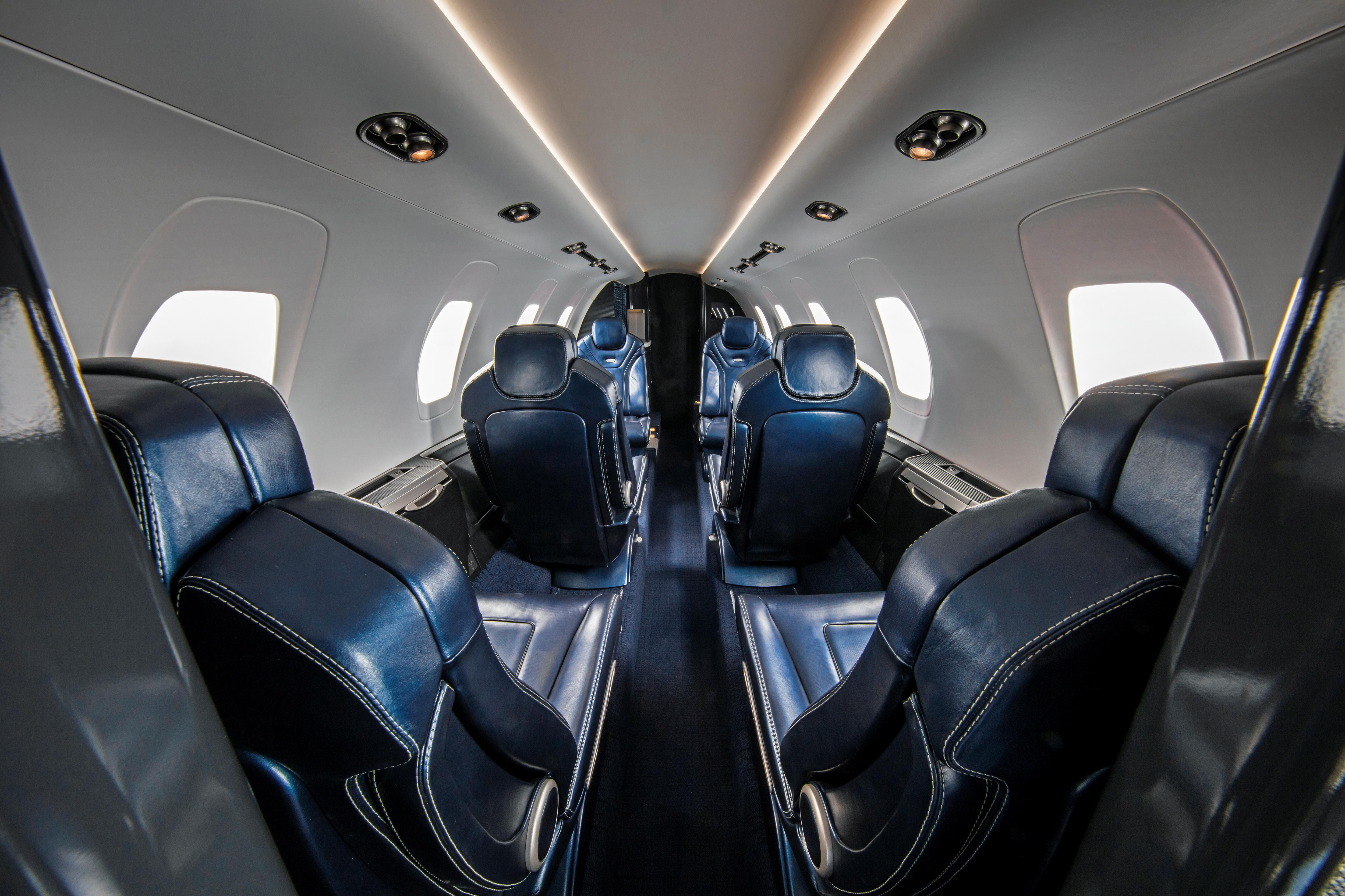 Handout photo of a mock up of the interior of Textron Cessna Citation XLS+ Gen 2 in Wichita, Kansas, U.S., September 24, 2021. Picture taken September 24, 2021.  Paul Bowen/Handout via REUTERS