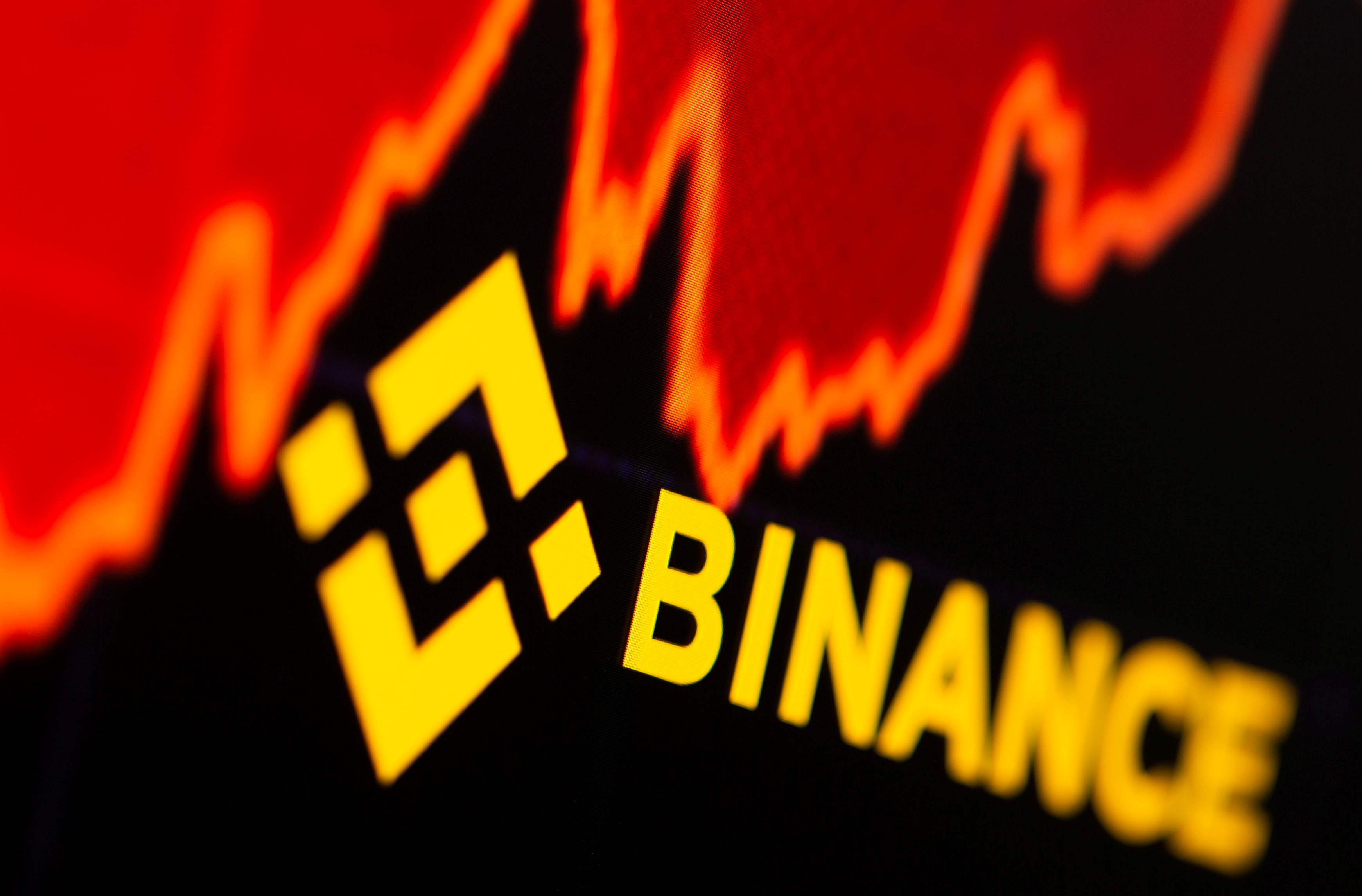 Binance logo and stock graph are displayed in this illustration taken, June 28, 2021. REUTERS/Dado Ruvic/Illustration/File Photo