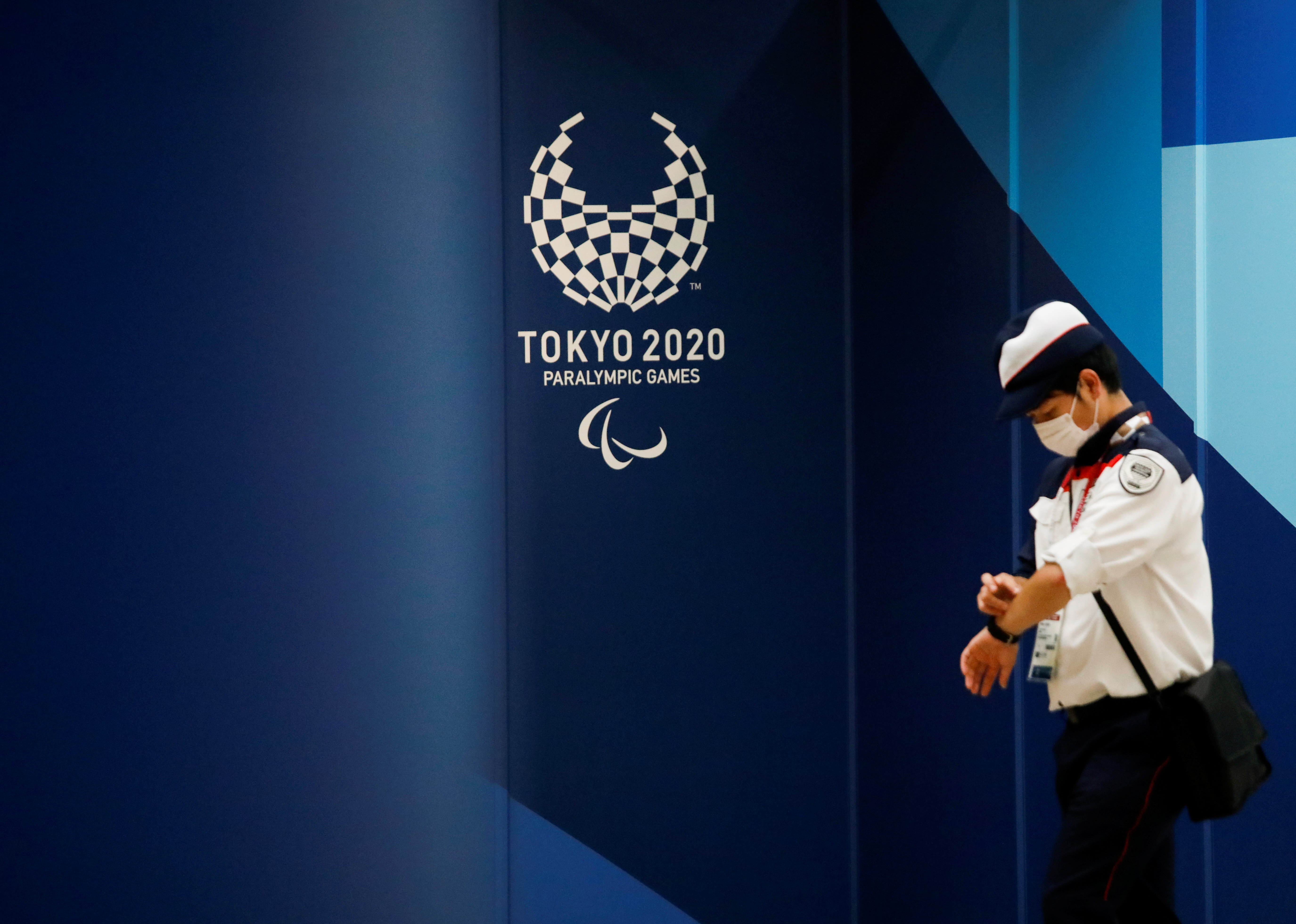 The logo of Tokyo 2020 Paralympic Games is displayed amid the coronavirus disease (COVID-19) pandemic, in Tokyo, Japan, August 16, 2021.  REUTERS/Issei Kato