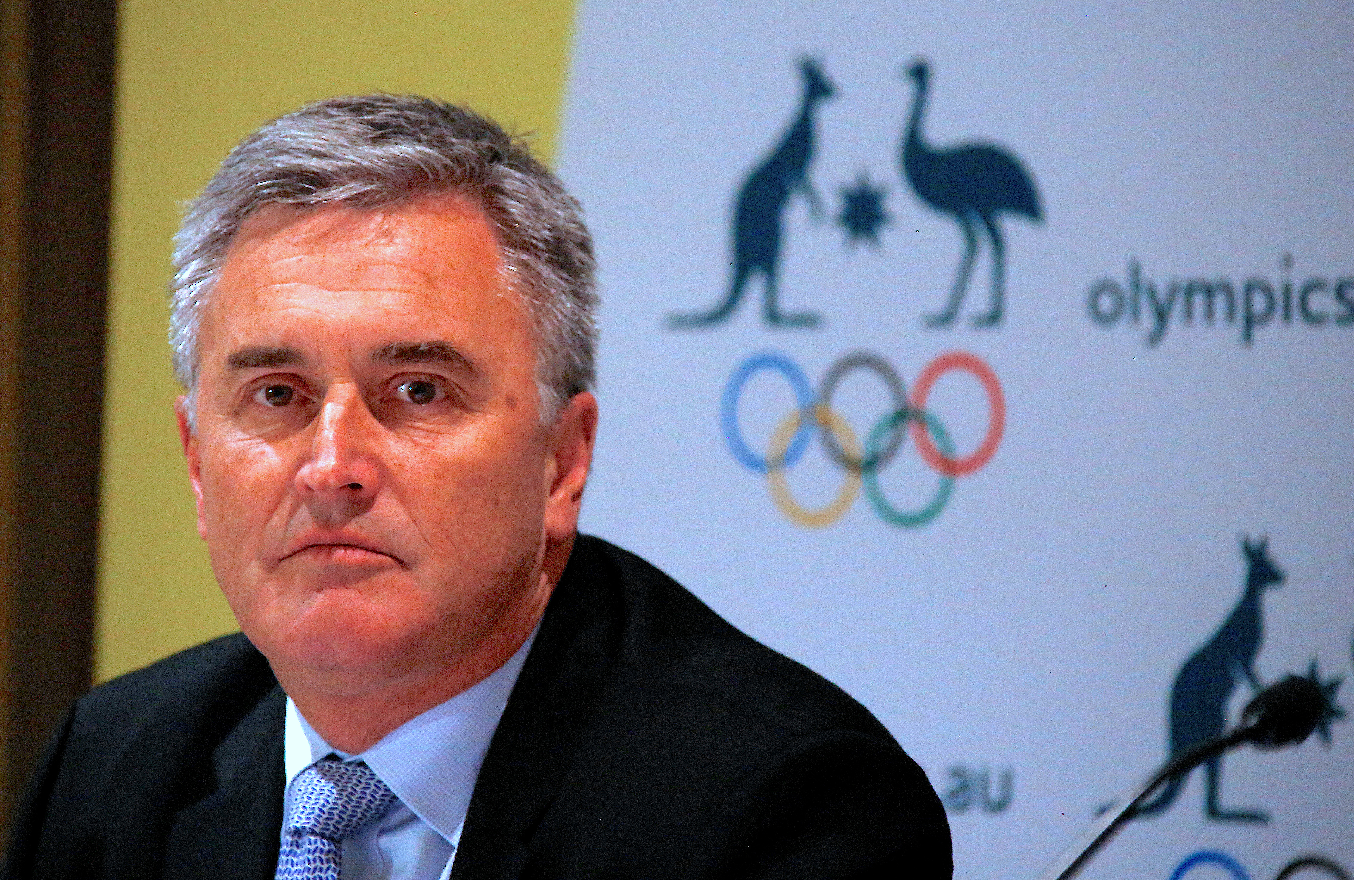 Ian Chesterman, Australia's chef de mission for the 2020 Tokyo Olympic Games, listens to a question during a media conference in Sydney, Australia, August 24, 2017.   REUTERS/David Gray