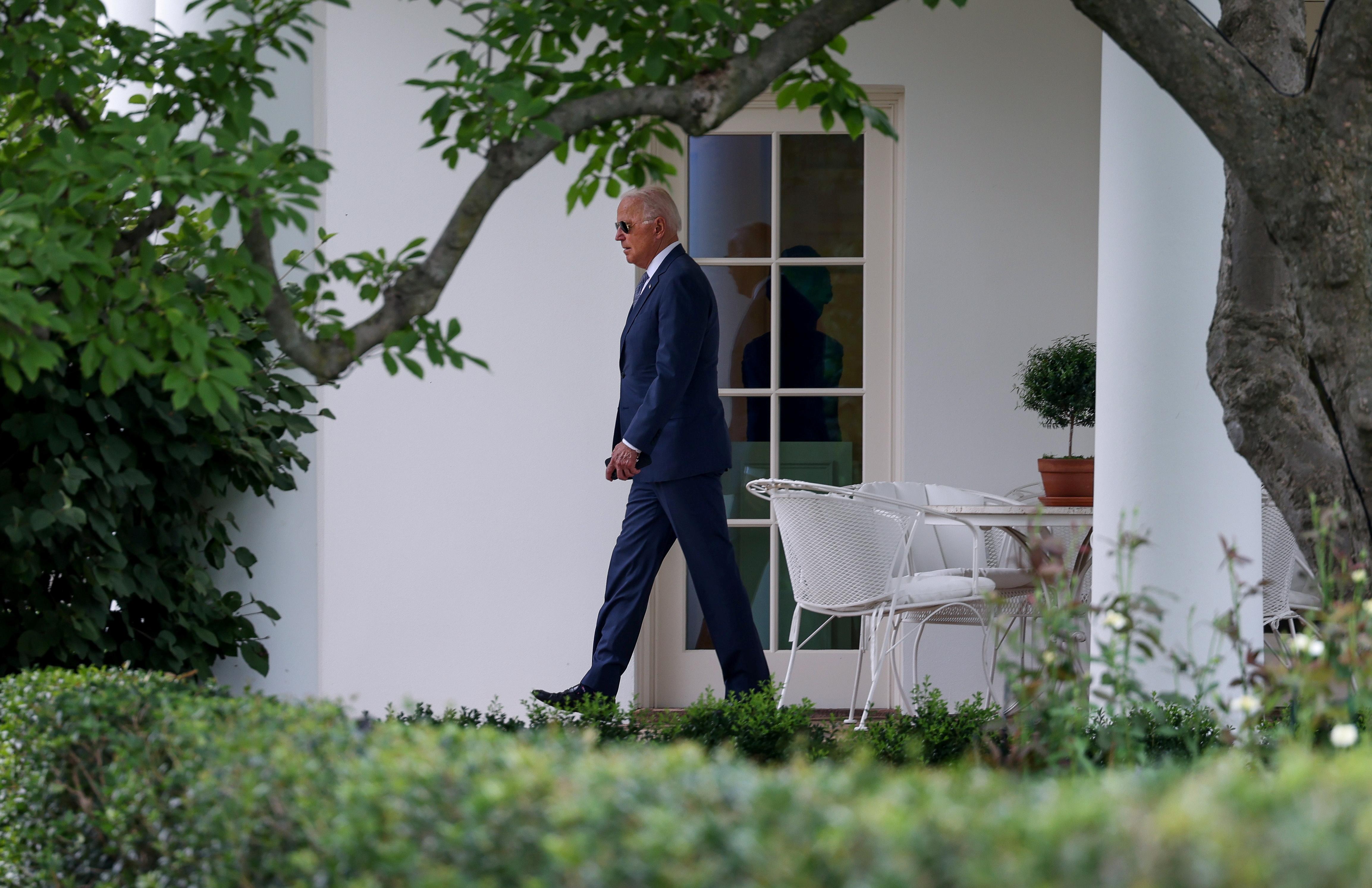 U.S. President Joe Biden departs the White House in Washington, U.S., July 9, 2021. REUTERS/Evelyn Hockstein