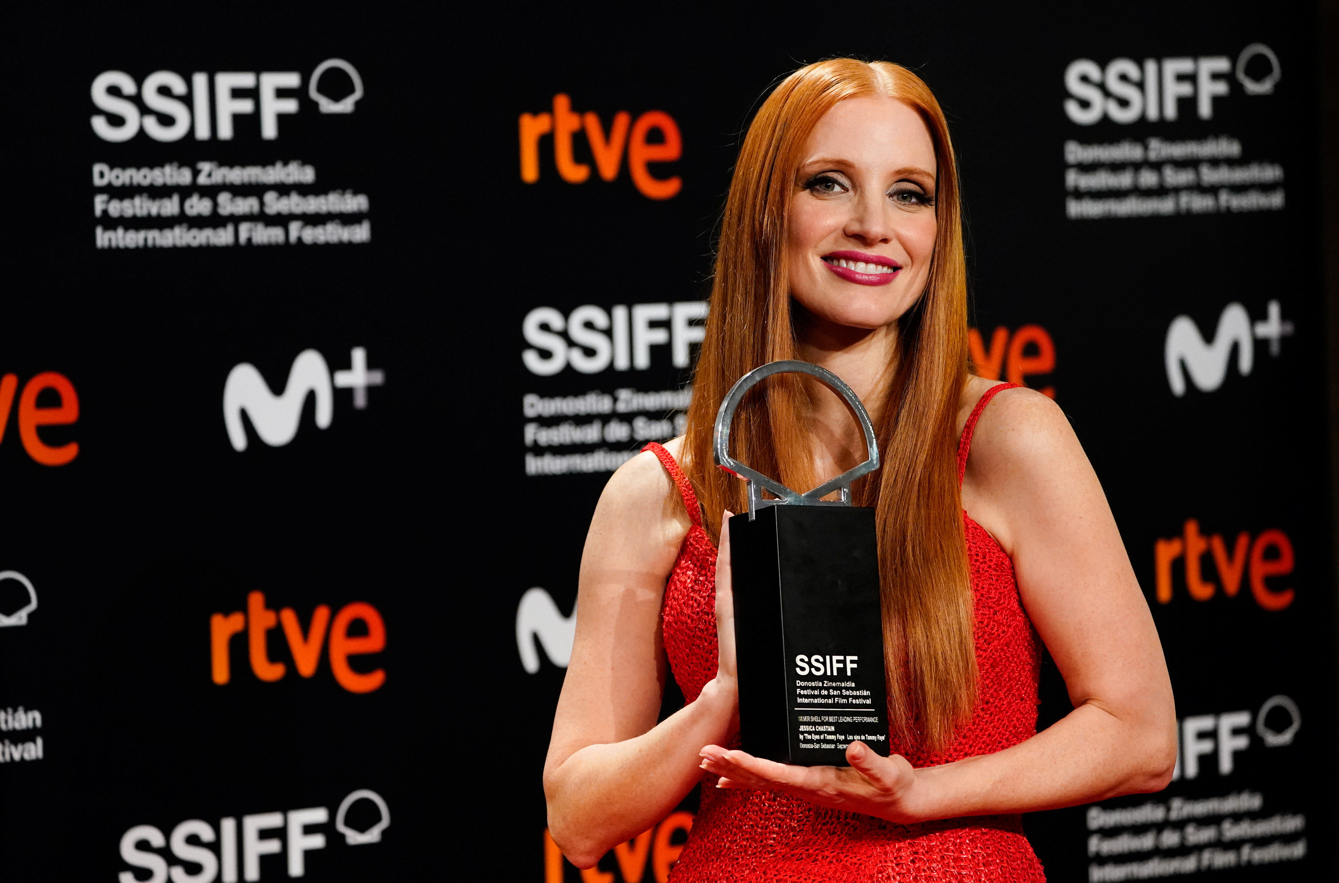 Actor Jessica Chastain, who won the award for best actor in the feature film