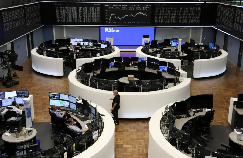 The German share price index DAX graph is pictured at the stock exchange in Frankfurt, Germany August 10, 2021. REUTERS/Staff