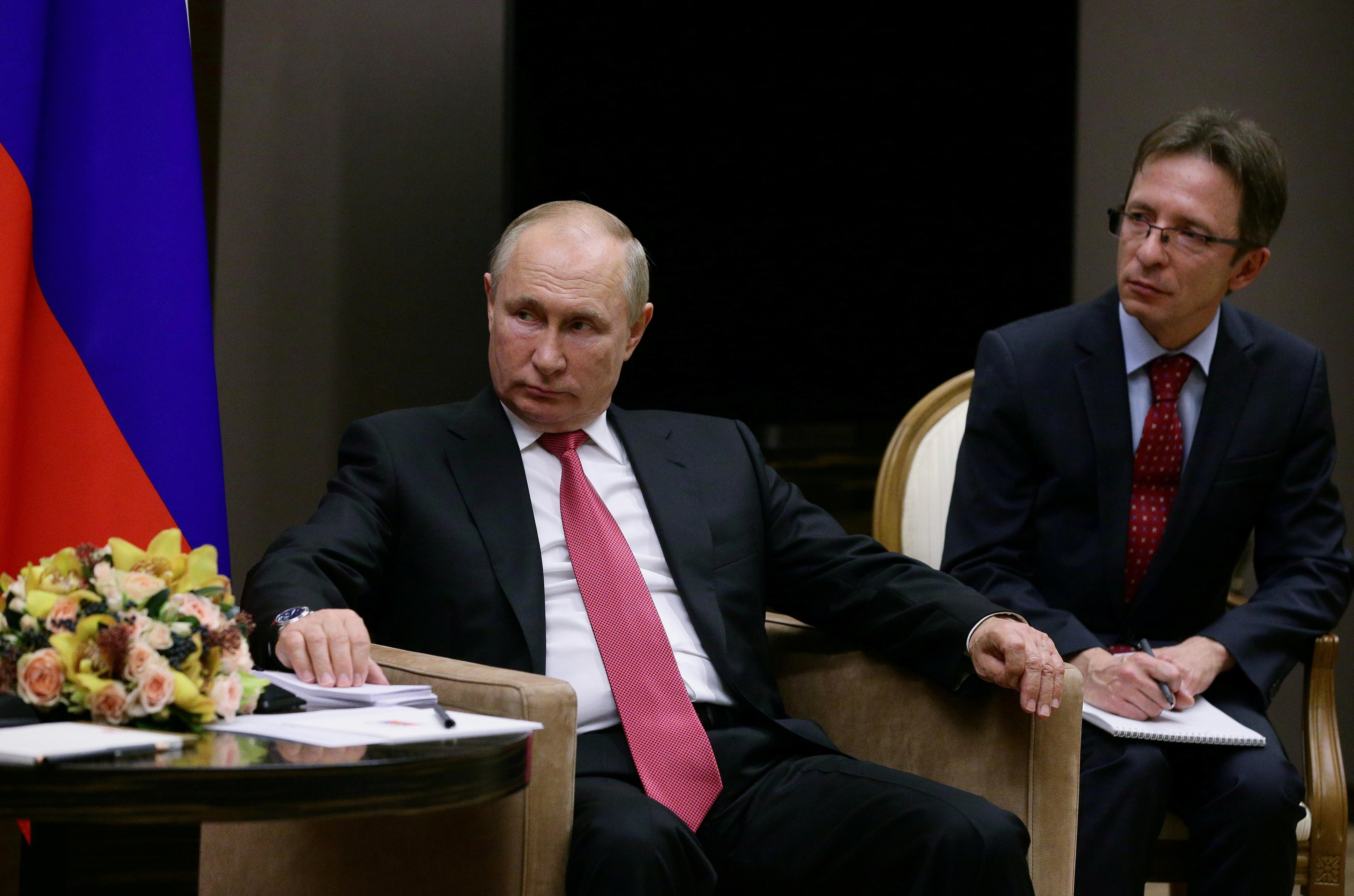 Russian President Vladimir Putin attends a meeting with Turkish President Tayyip Erdogan in Sochi, Russia September 29, 2021. Sputnik/Vladimir Smirnov/Pool via REUTERS