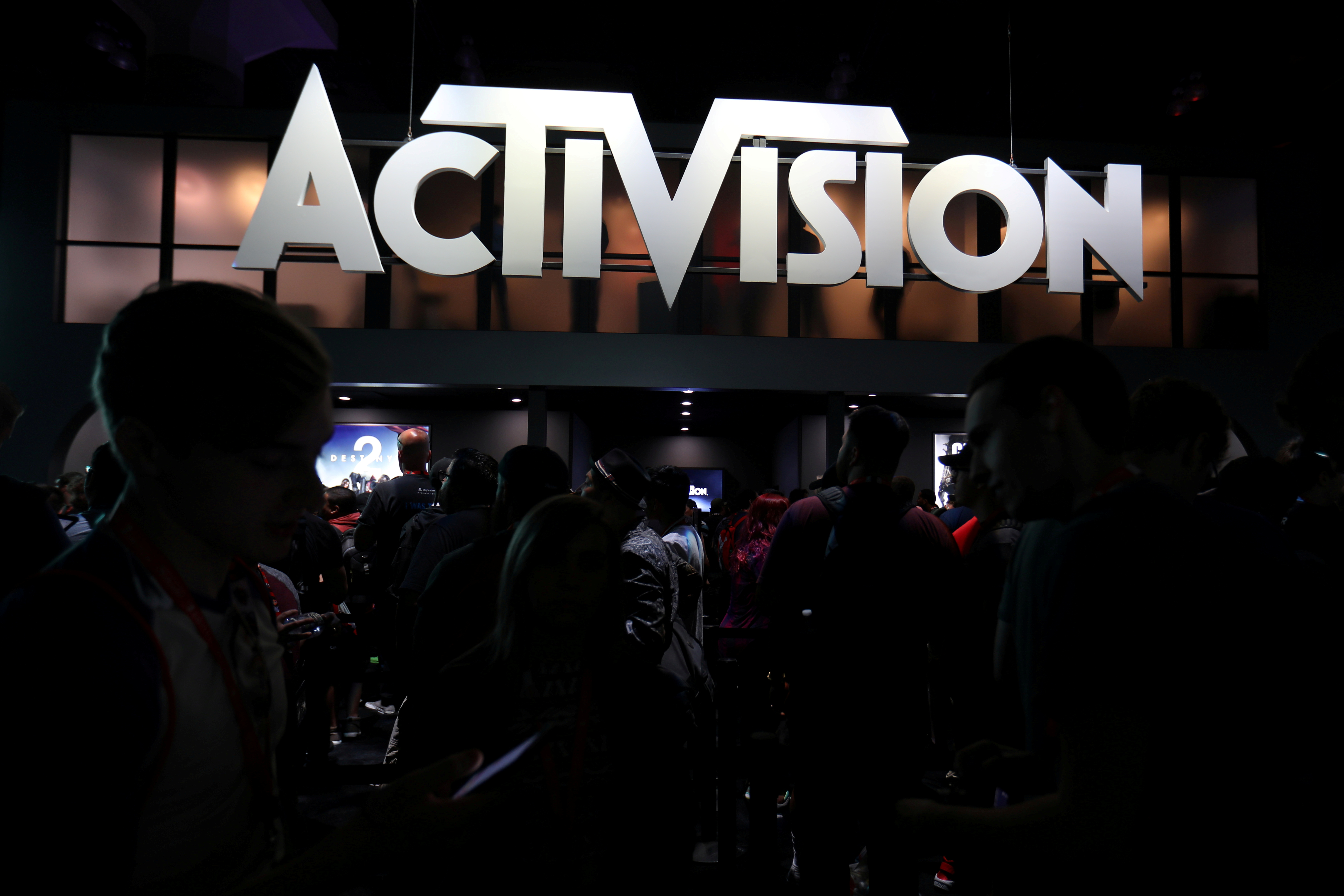 The Activision booth is shown at the E3 2017 Electronic Entertainment Expo in Los Angeles, California, U.S. June 13, 2017.  REUTERS/ Mike Blake