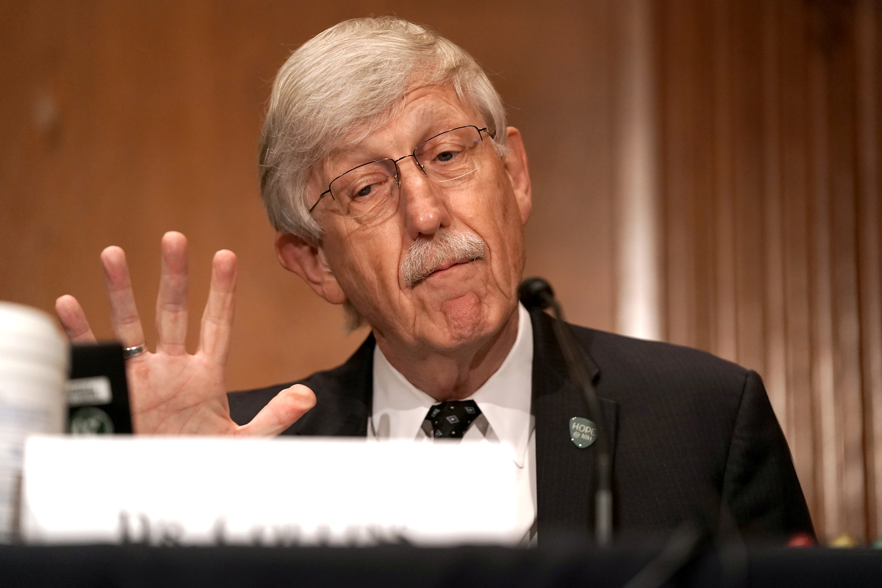 Dr Francis Collins, Director of the National Institutes of Health, testifies during a Senate Health, Education, Labor and Pensions Committee hearing in Washington, U.S., September 9, 2020. Greg Nash/Pool via REUTERS