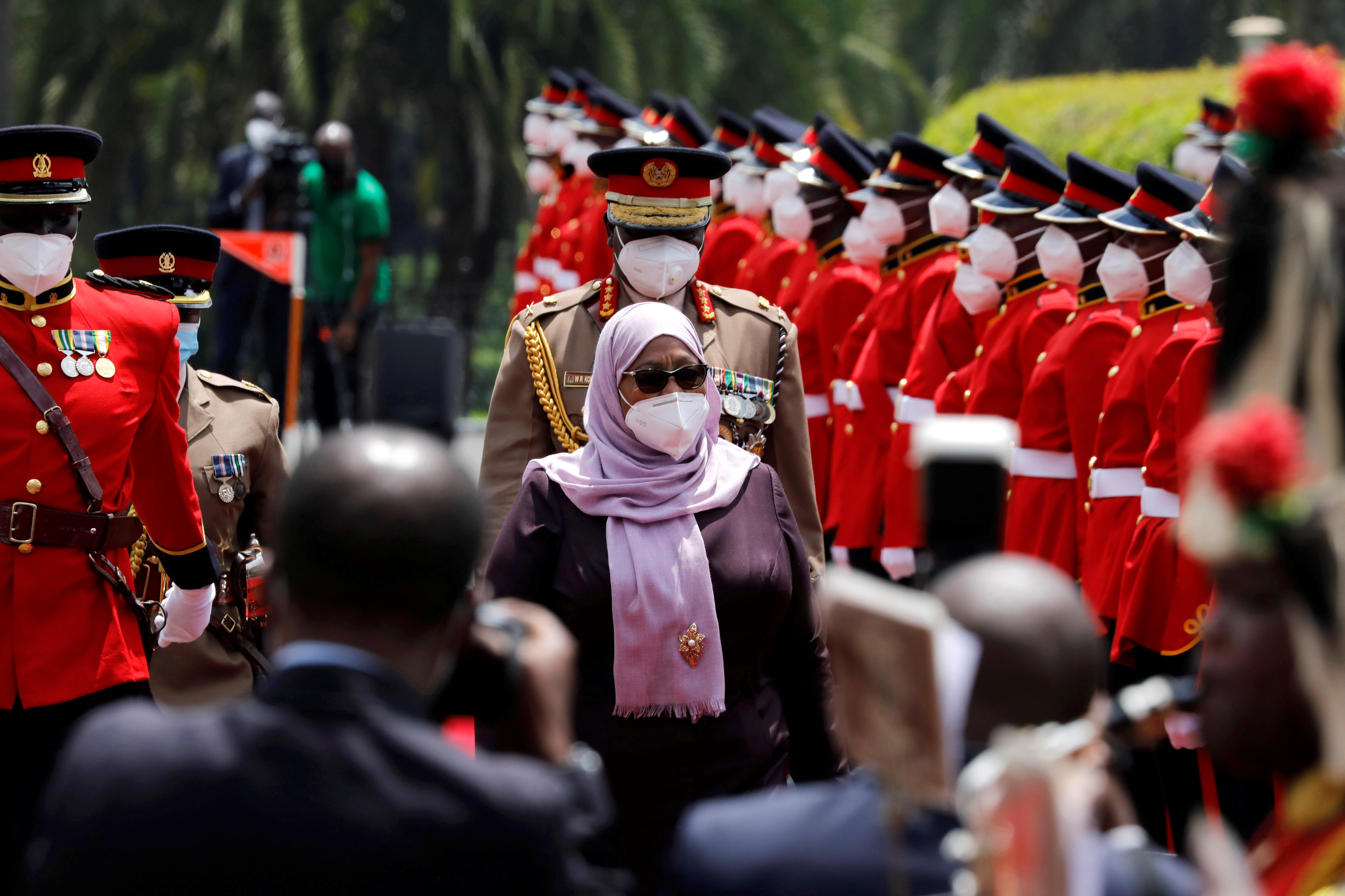 Tanzanian President Samia Suluhu Hassan.  REUTERS/Baz Ratner
