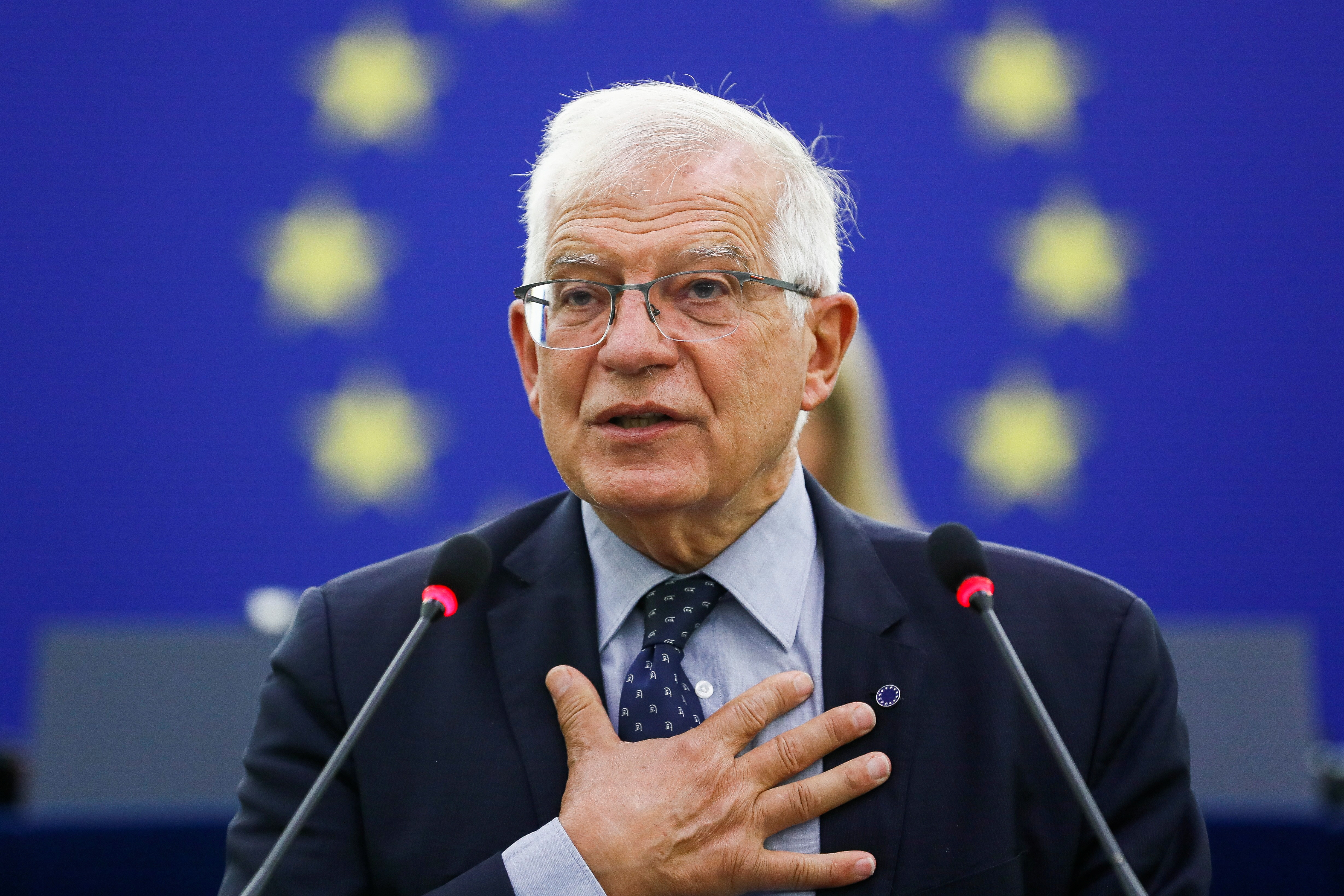 EU Foreign Policy Chief Josep Borrell delivers a speech on the situation in Afghanistan during a plenary session at the European Parliament in Strasbourg, France, September 14, 2021. Julien Warnand/Pool via REUTERS
