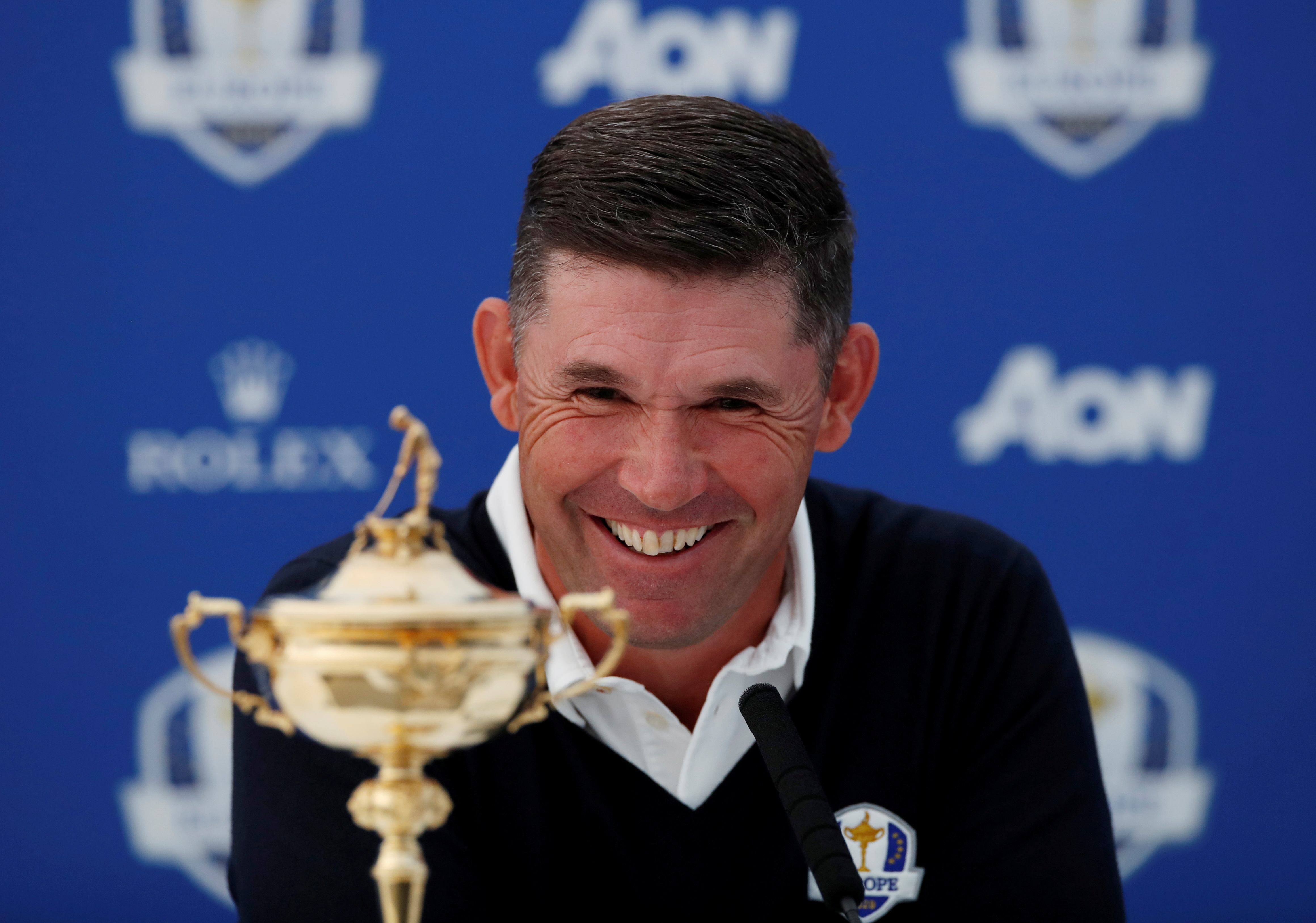 Golf - Ryder Cup - 2020 Ryder Cup Press Conference - Wentworth Golf Club, Virginia Water, Britain - September 18, 2019   The 2020 Ryder Cup captain Padraig Harrington during a press conference   Action Images via Reuters/Paul Childs/File Photo