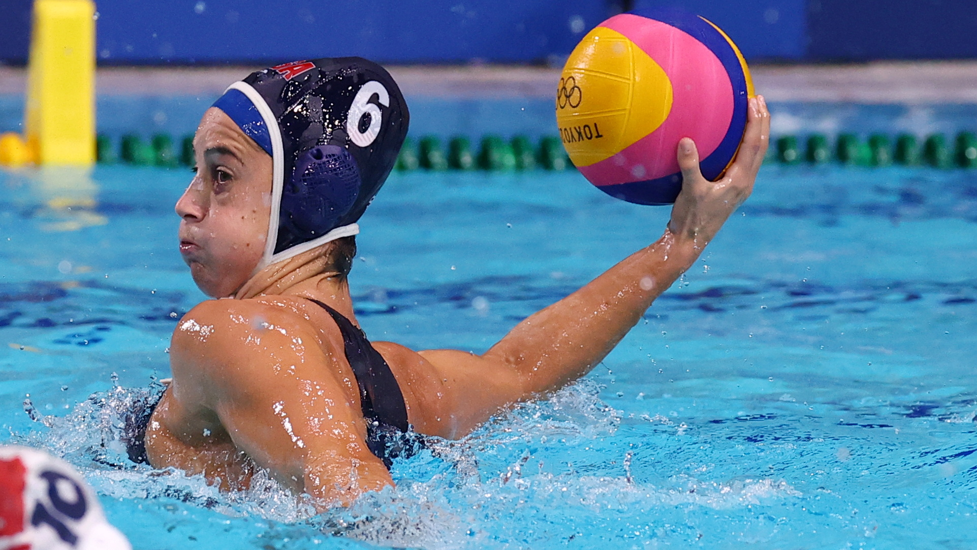 Tokyo 2020 Olympics - Water Polo - Women - Group B - Hungary v United States - Tatsumi Water Polo Centre, Tokyo, Japan - July 28, 2021. Margaret Steffens of the United States in action. REUTERS/Kacper Pempel