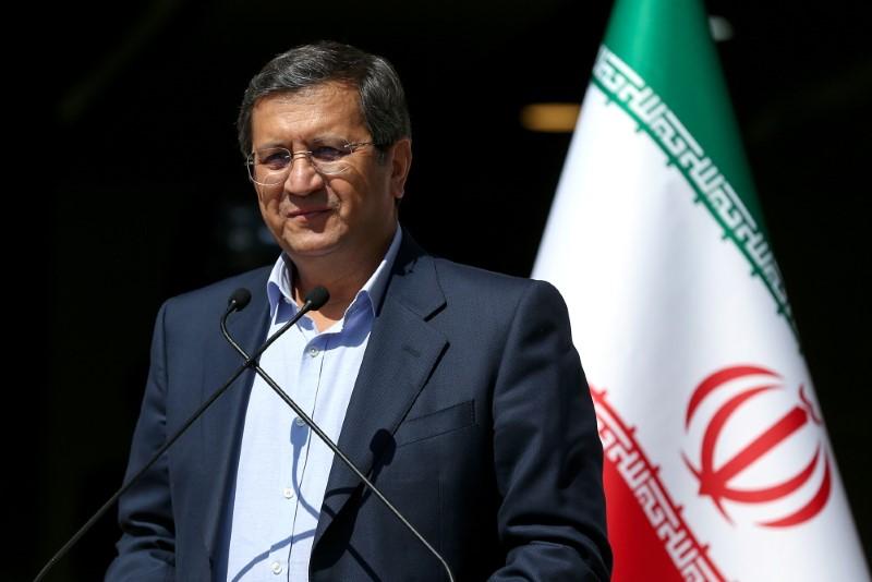 Presidential candidate Abdolnaser Hemmati speaks with journalists before the start of the last election debate, in Tehran, Iran June 12, 2021. Ayoub Ghaderi/YJC/WANA (West Asia News Agency) via REUTERS