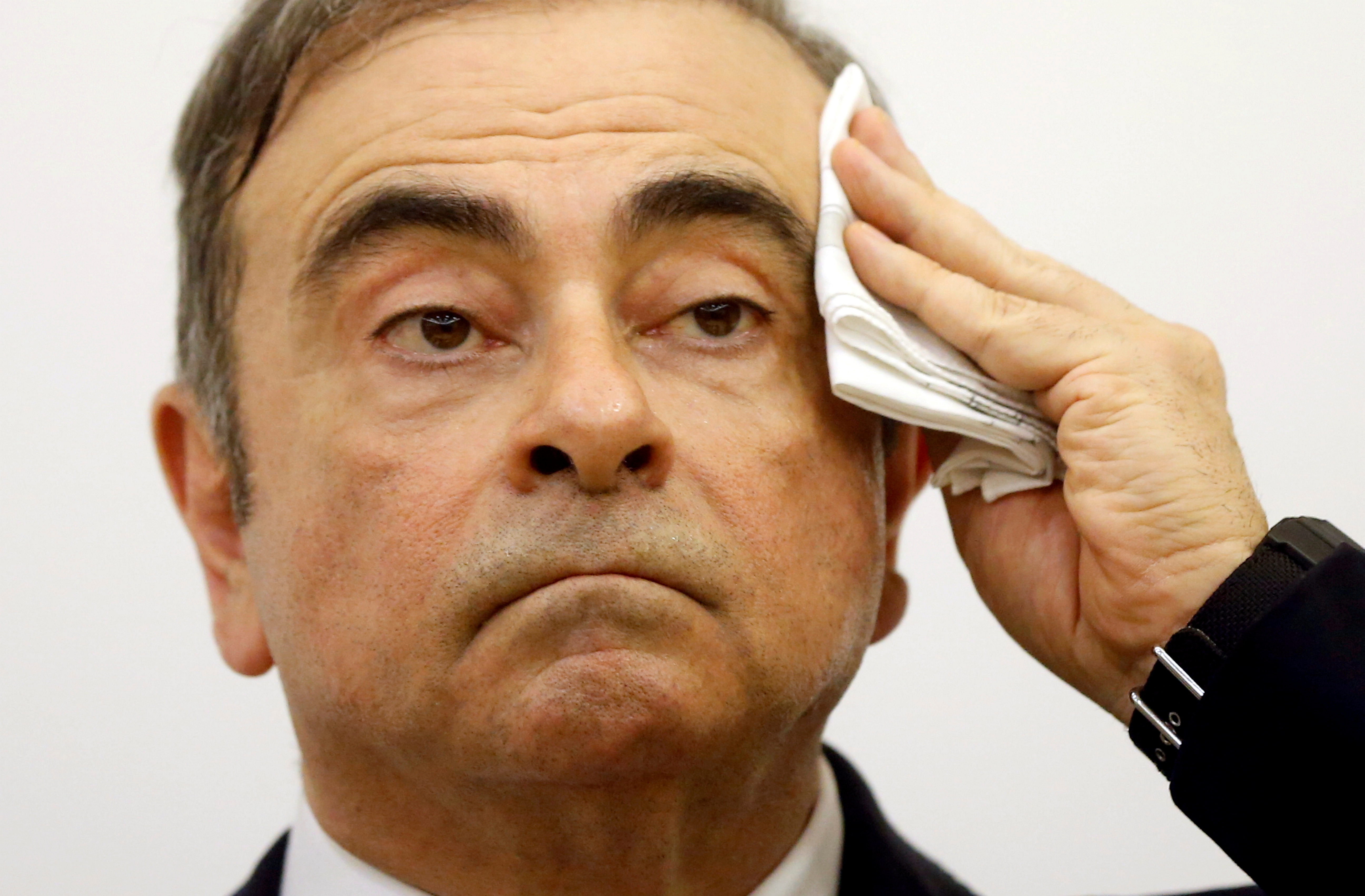 File photo: Former Nissan chairman Carlos Ghosn gestures during a news conference at the Lebanese Press Syndicate in Beirut, Lebanon January 8, 2020. REUTERS/Mohamed Azakir.