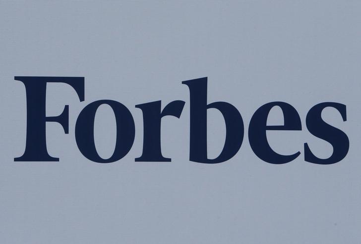 The logo of Forbes magazine is seen on a board at the St. Petersburg International Economic Forum 2017 (SPIEF 2017) in St. Petersburg, Russia, June 1, 2017. REUTERS/Sergei Karpukhin