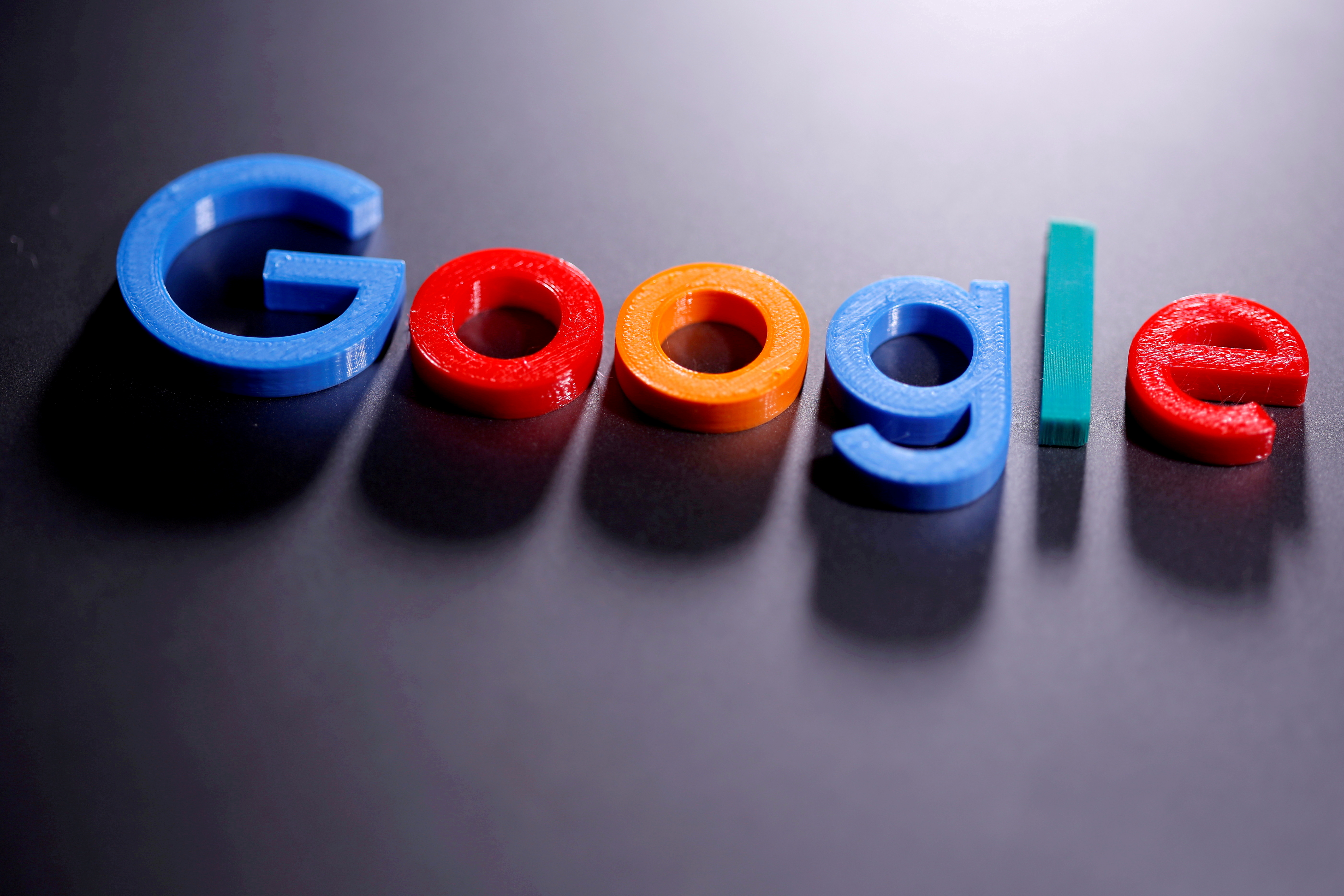 A 3D-printed Google logo is seen in this illustration taken April 12, 2020. REUTERS/Dado Ruvic